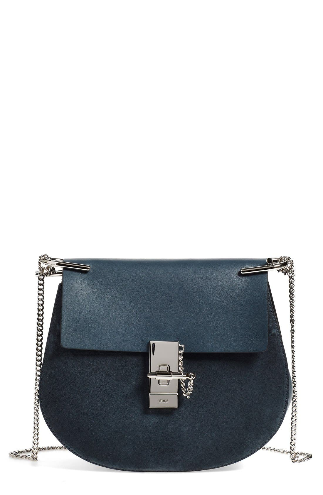 Alternate Image 1 Selected - Chloé Small Drew Leather & Suede Shoulder Bag