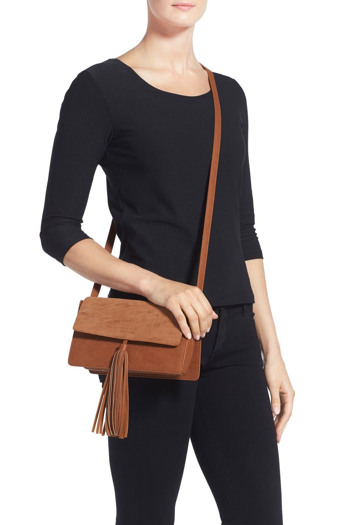 Alternate Image 2  - BP. Tassel Faux Leather Crossbody Bag