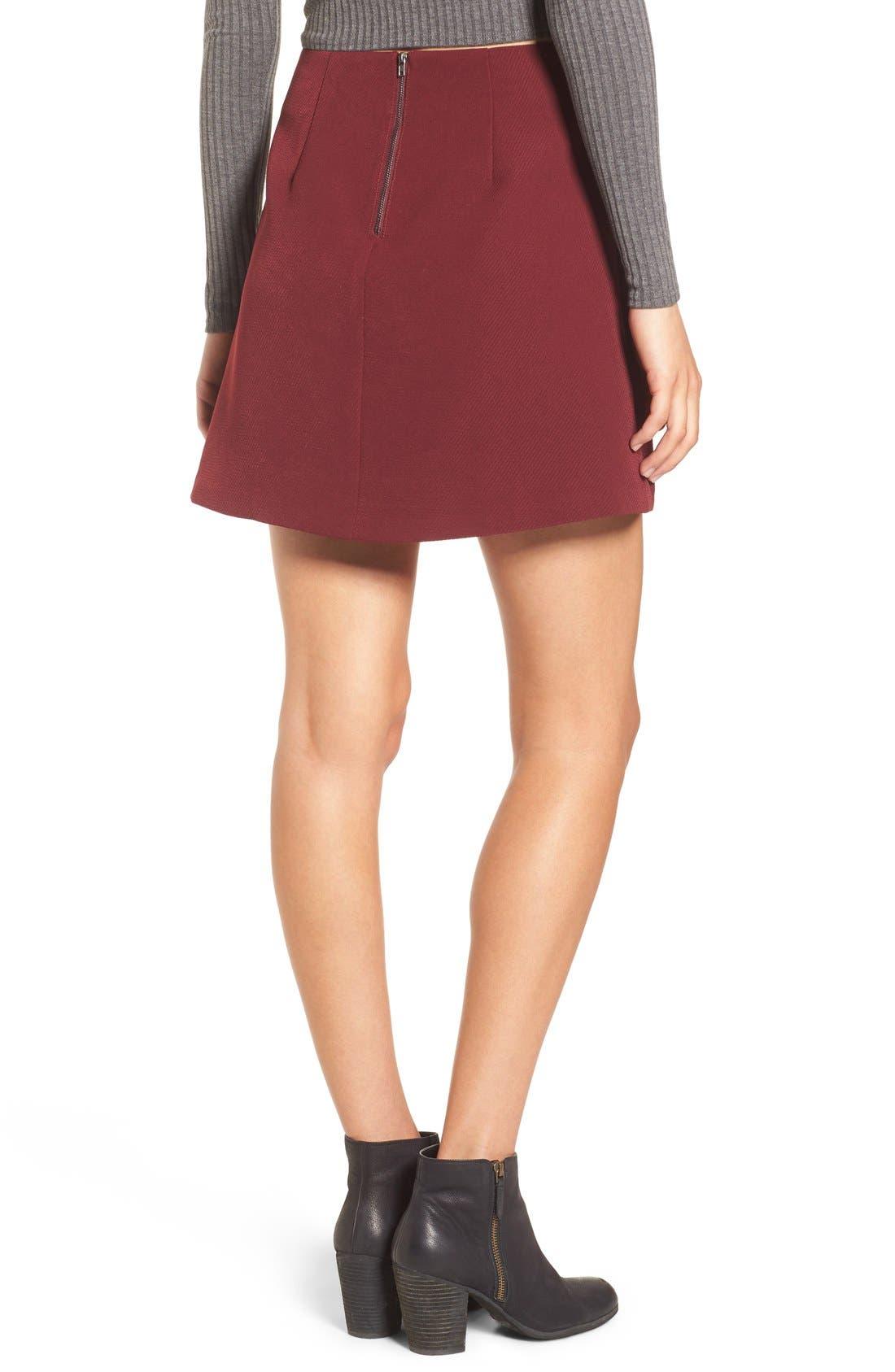 Alternate Image 2  - Lush A-Line Miniskirt