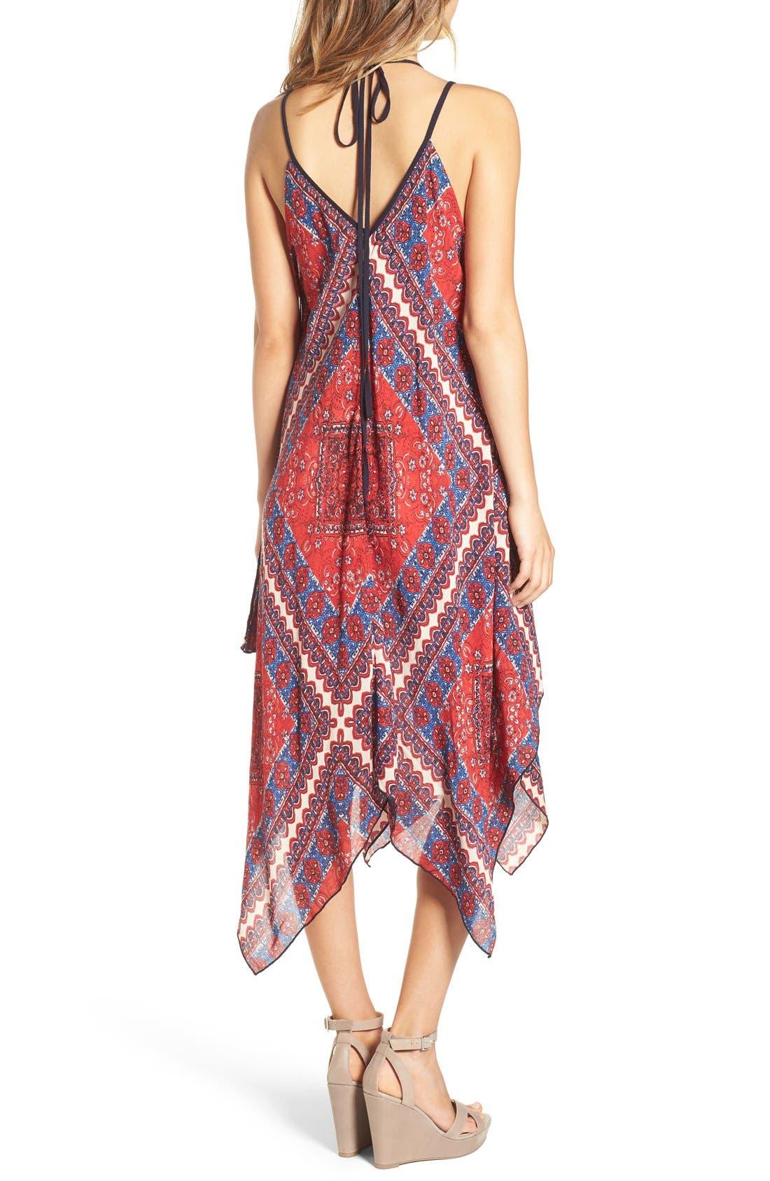 Alternate Image 2  - Band of Gypsies Scarf Print Handkerchief Hem Dress