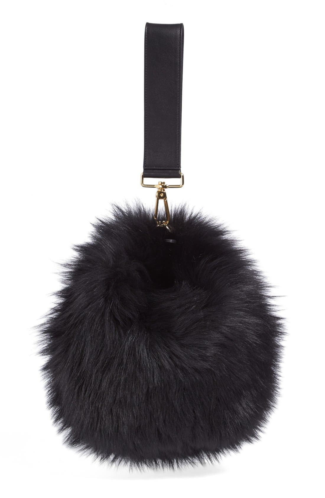 Alternate Image 3  - Simone Rocha Genuine Shearling Puff Clutch