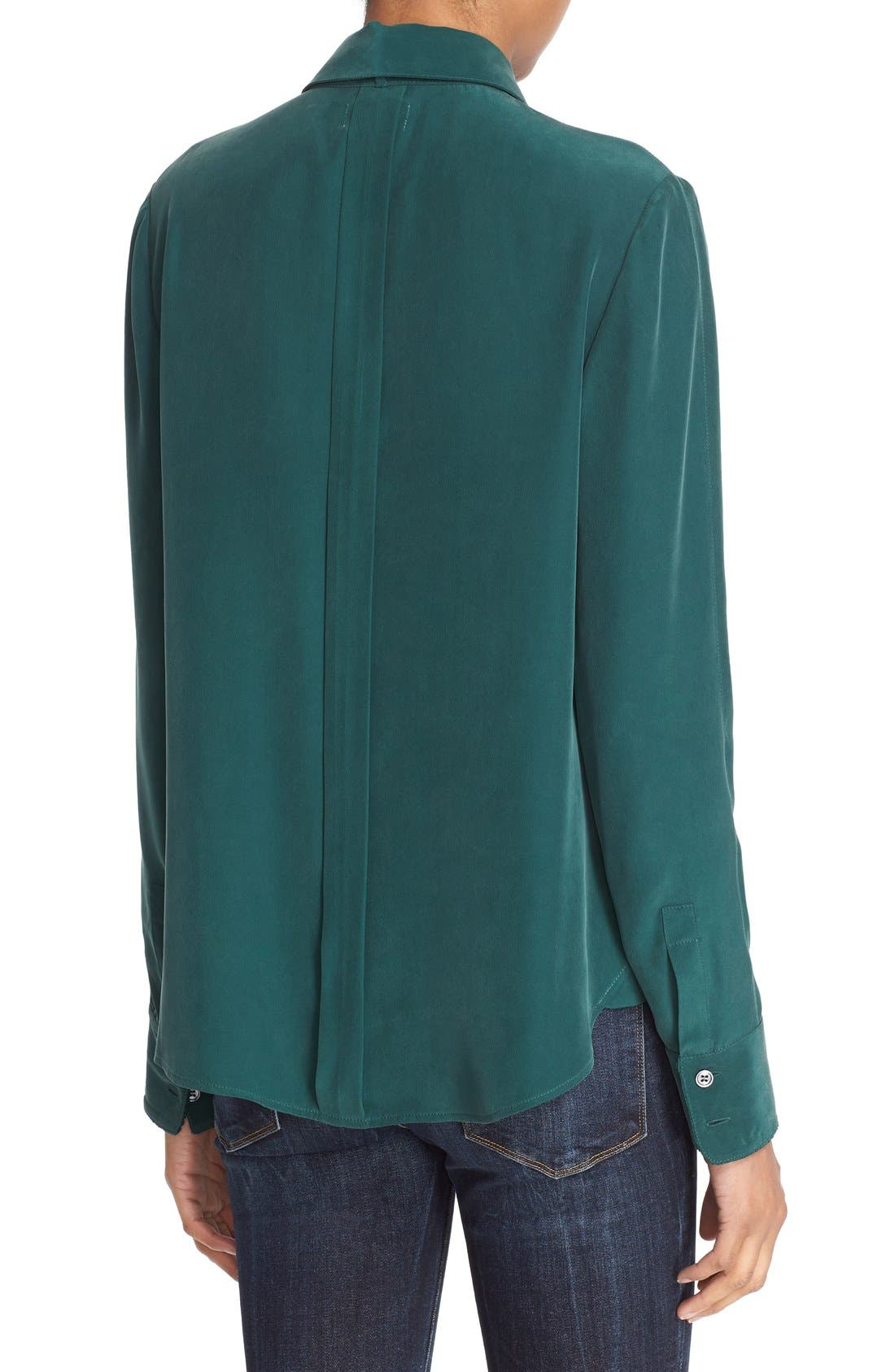 Alternate Image 2  - FRAME Tie Neck Silk Blouse (Nordstrom Exclusive)