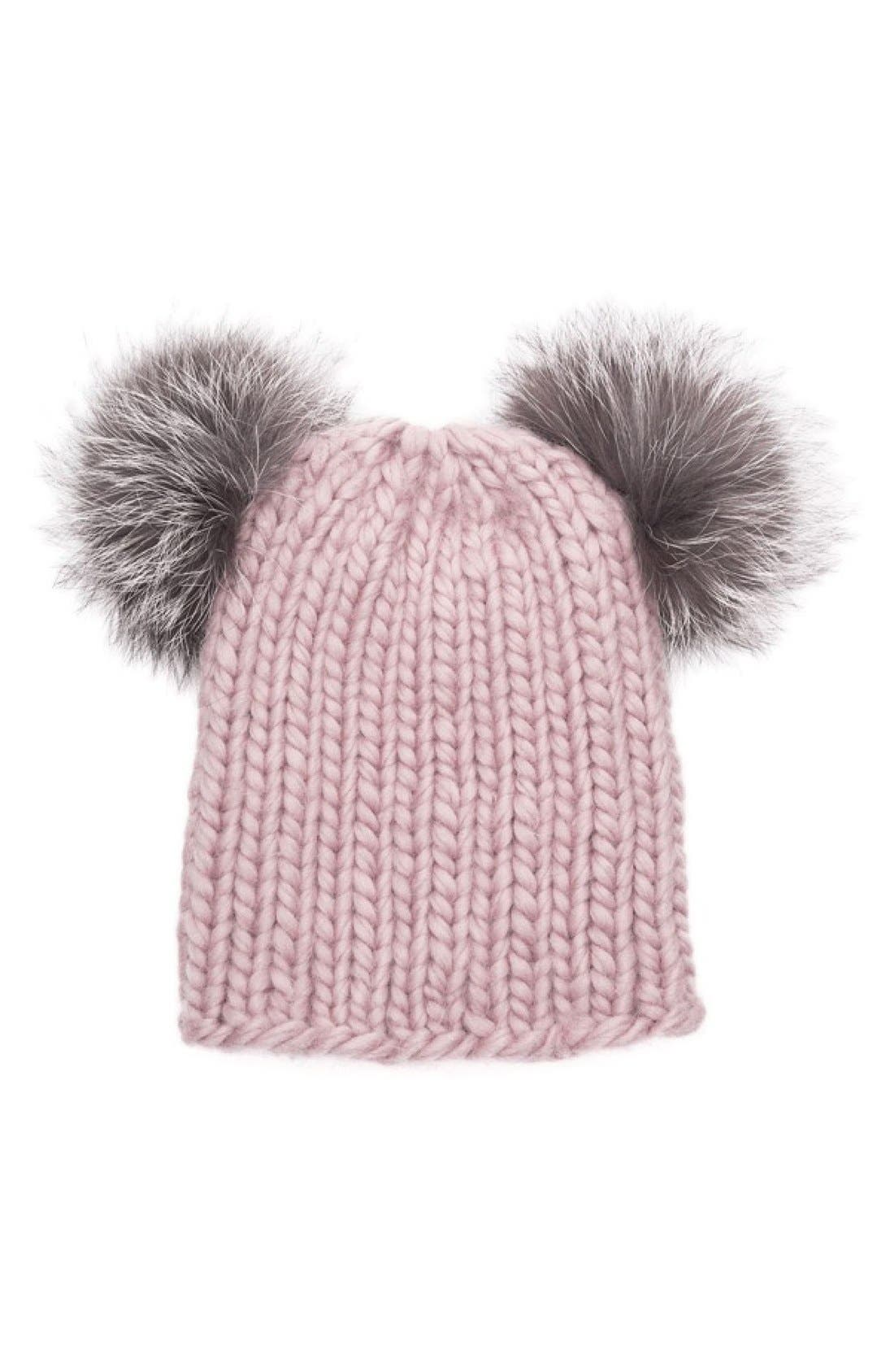 Main Image - Eugenia Kim 'Mimi' Beanie with Genuine Fox Fur Pompoms