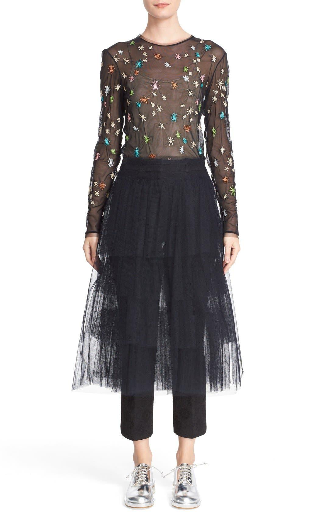 Alternate Image 7  - Simone Rocha Tiered Net Skirt