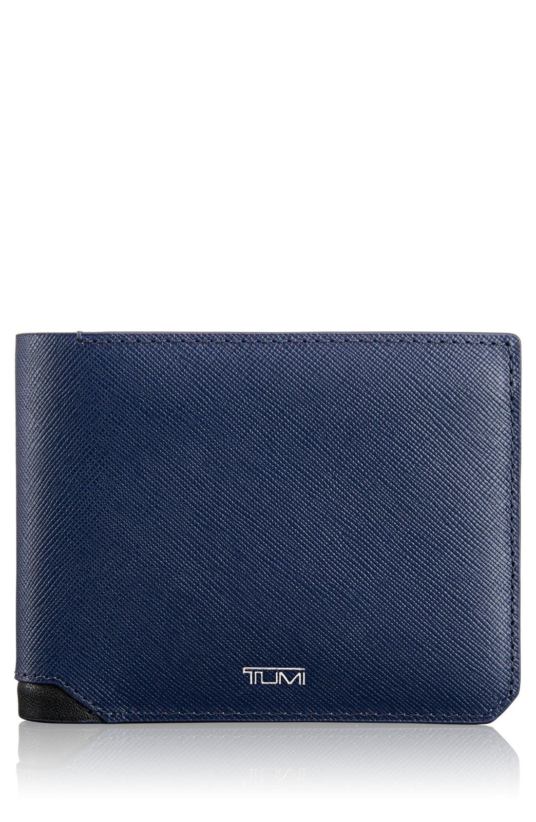 Tumi 'Mason' Global Leather Wallet with Removable Passcase