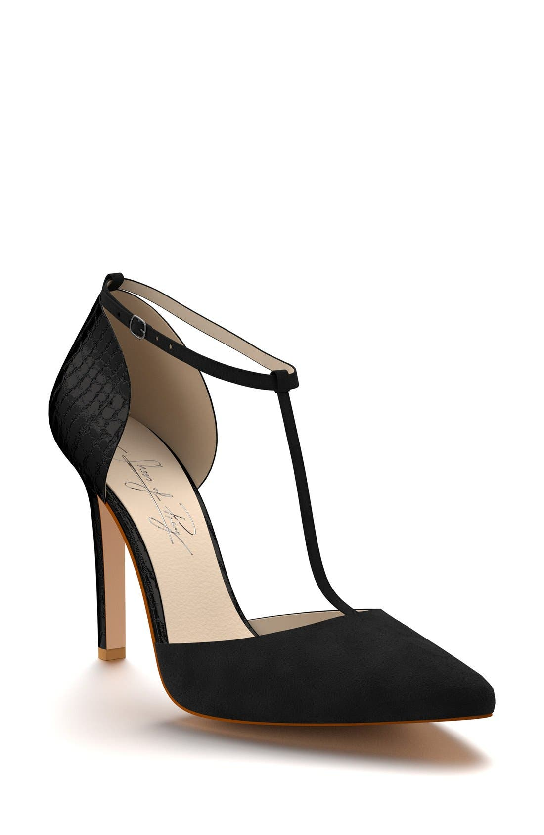 Shoes of Prey d'Orsay T-Strap Pump (Women)