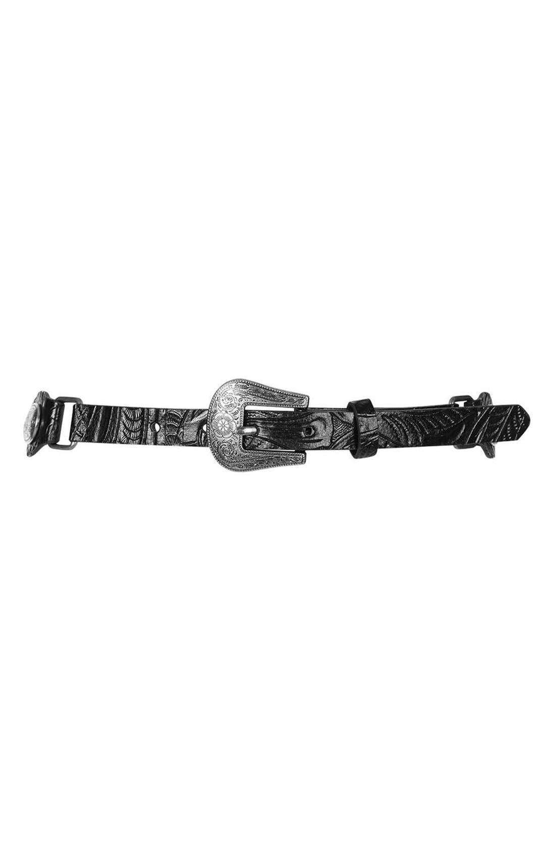 Main Image - Topshop Embossed Faux Leather Western Belt