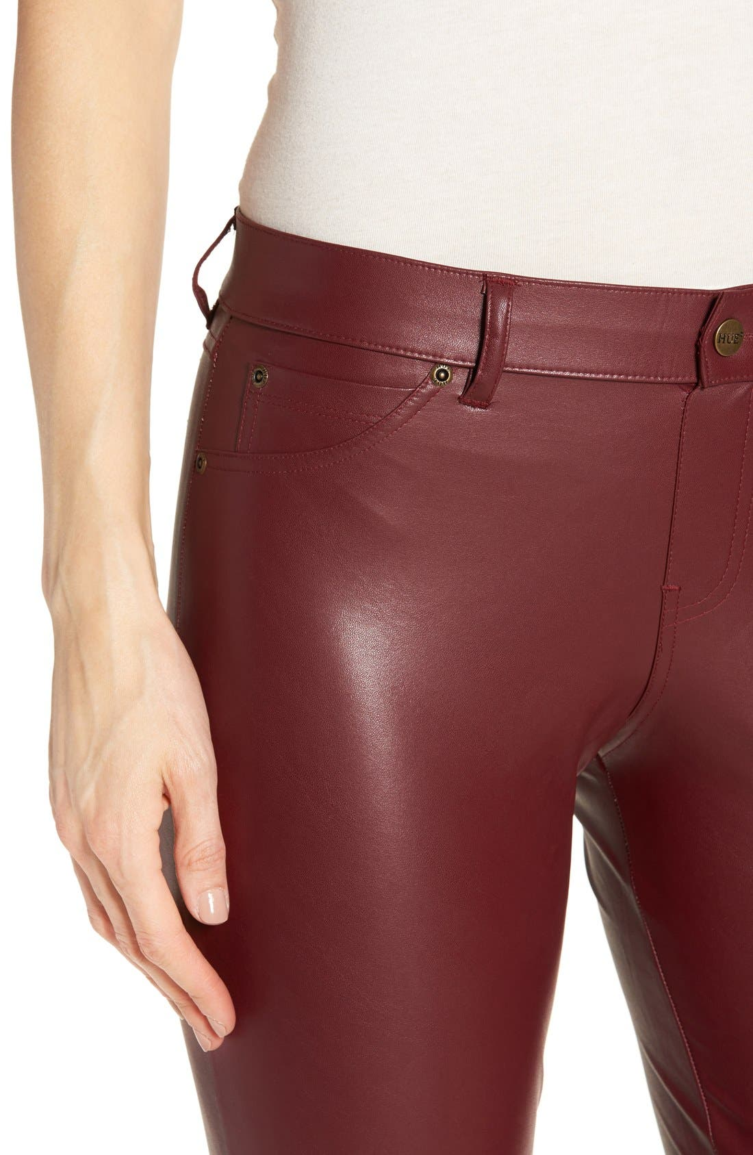 Alternate Image 4  - Hue 'Leatherette' Faux Leather Leggings