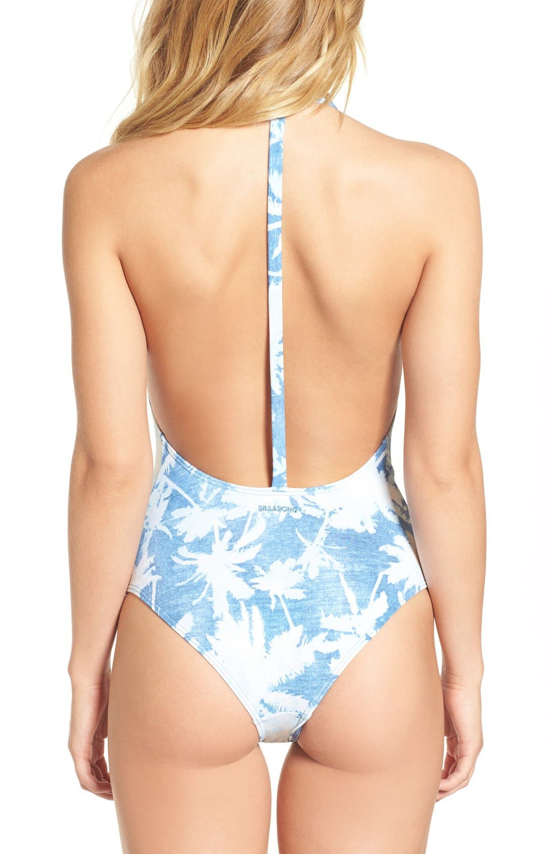 Alternate Image 2  - Billabong 'Indigo Dreams' Print One-Piece Swimsuit