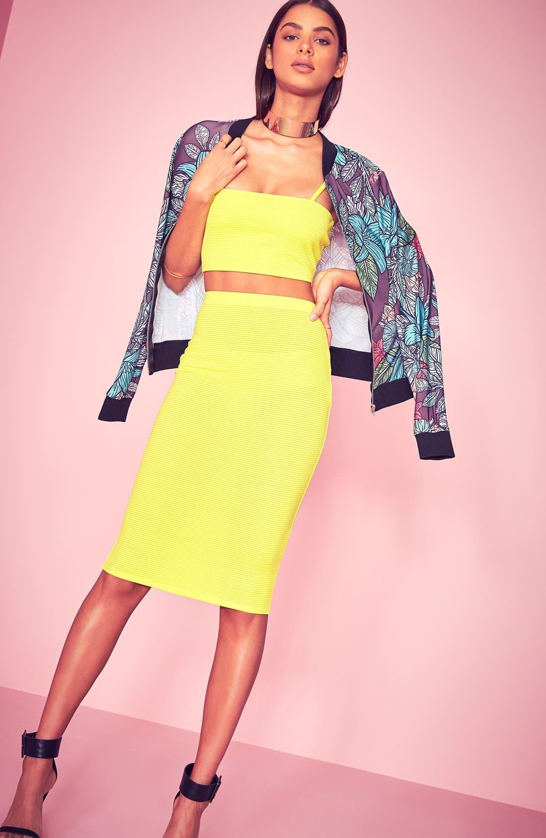 Alternate Image 2  - Missguided Ribbed Midi Skirt