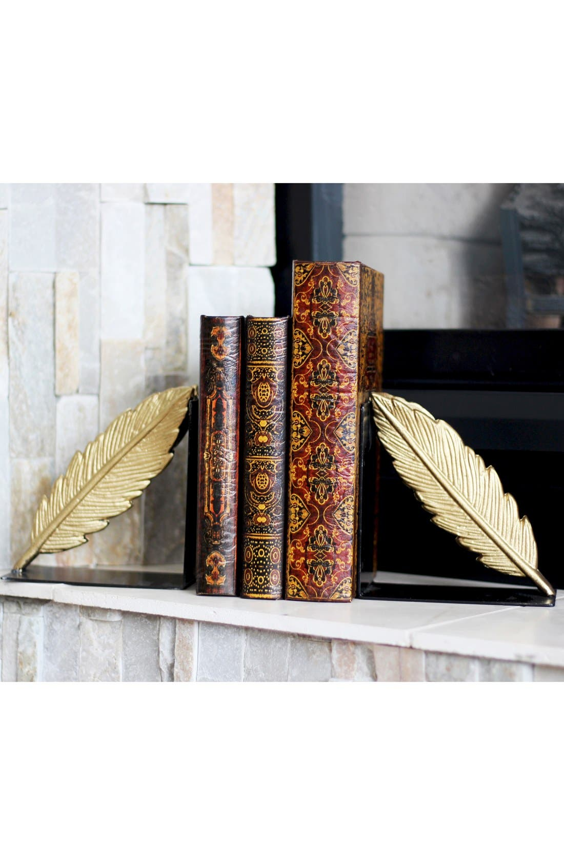 Alternate Image 2  - Foreside Gold Feather Bookends (Set of 2)