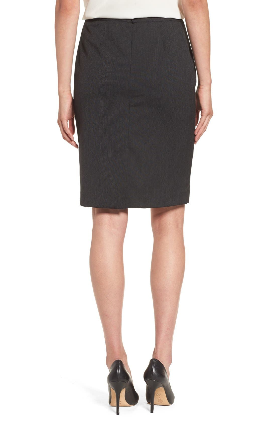 Alternate Image 2  - Halogen® Mini Stripe Stretch Suit Skirt (Regular & Petite)