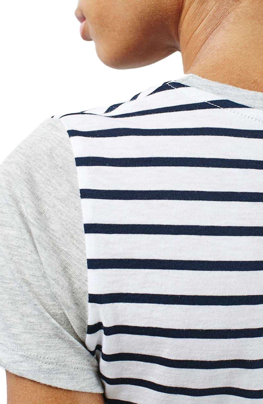 Alternate Image 5  - Topshop Colorblock Stripe Tee
