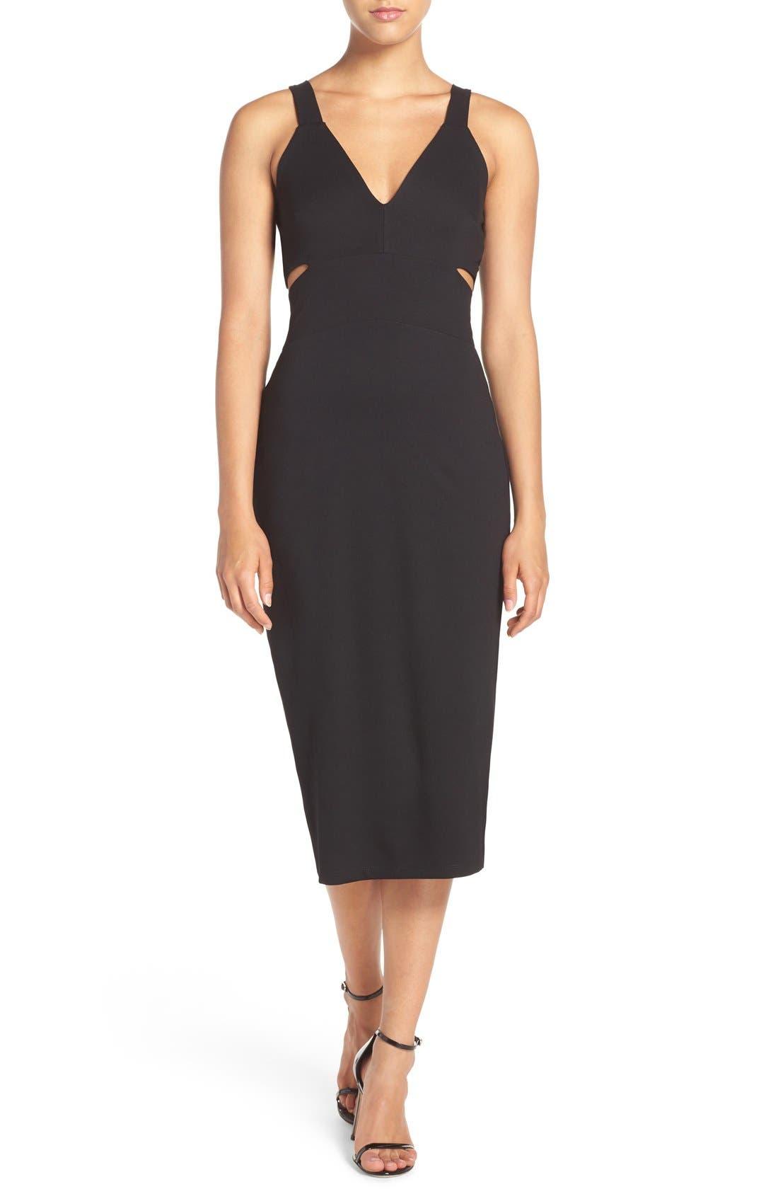 Fraiche by J Cutout Midi Dress