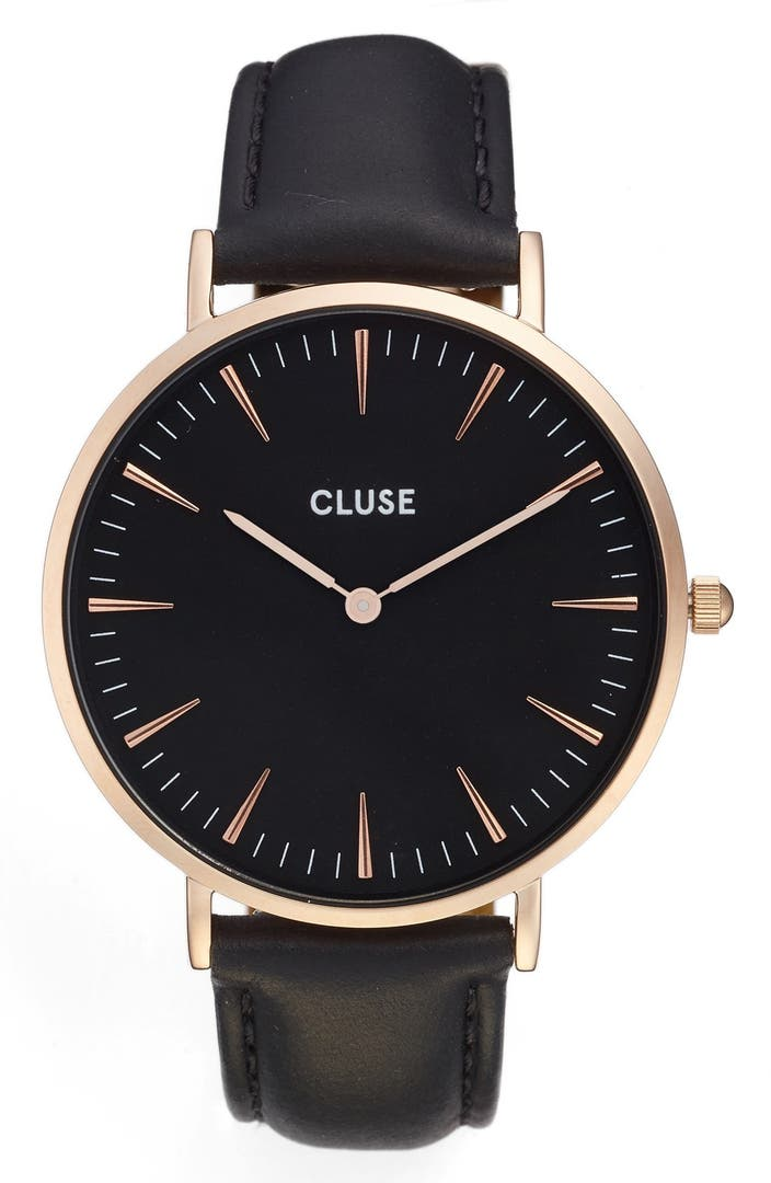 Cluse la boh me leather strap watch 38mm nordstrom for Watches 38mm