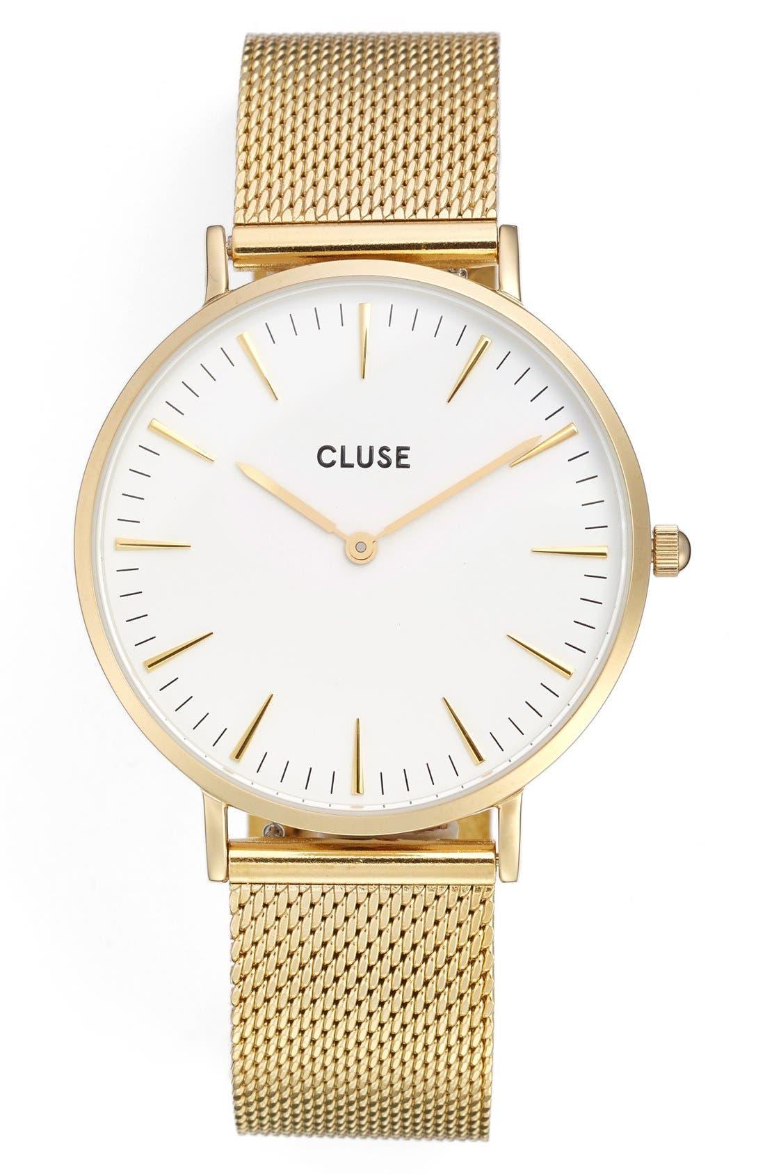 Alternate Image 1 Selected - CLUSE 'La Bohème' Mesh Strap Watch, 38mm