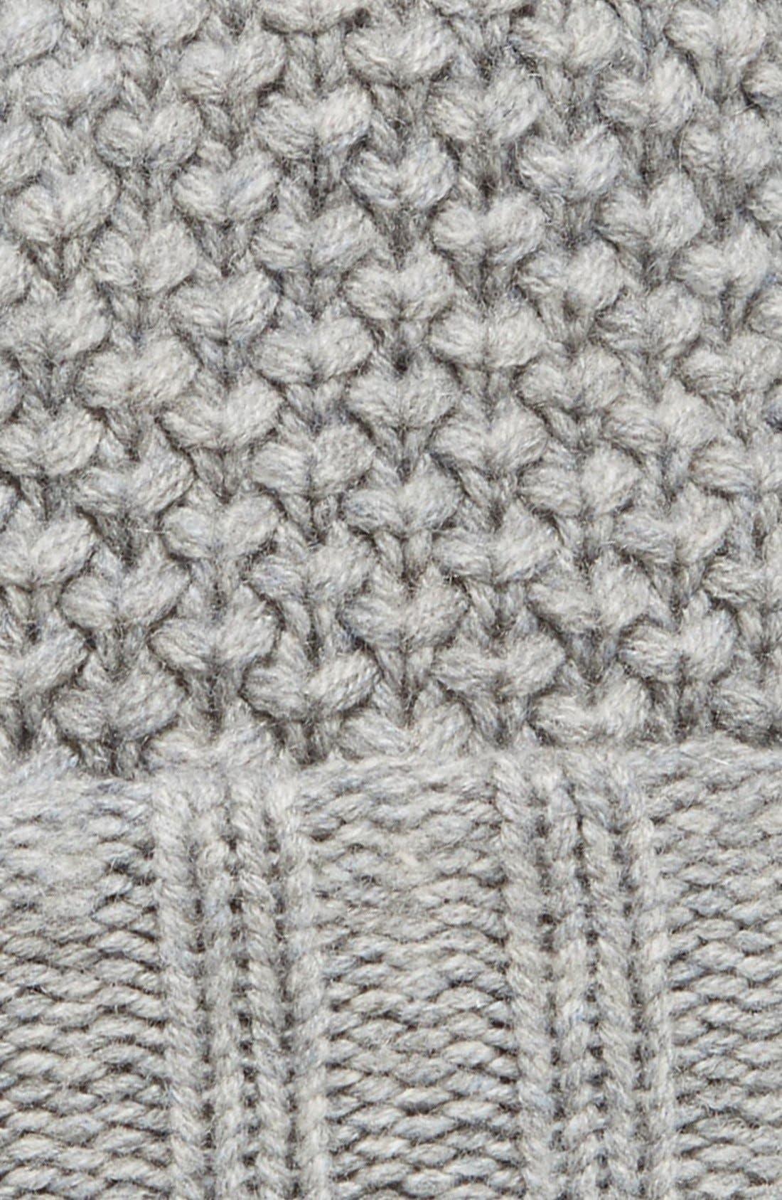 Alternate Image 2  - Burberry Wool & Cashmere Beanie with Genuine Fox Fur Pom