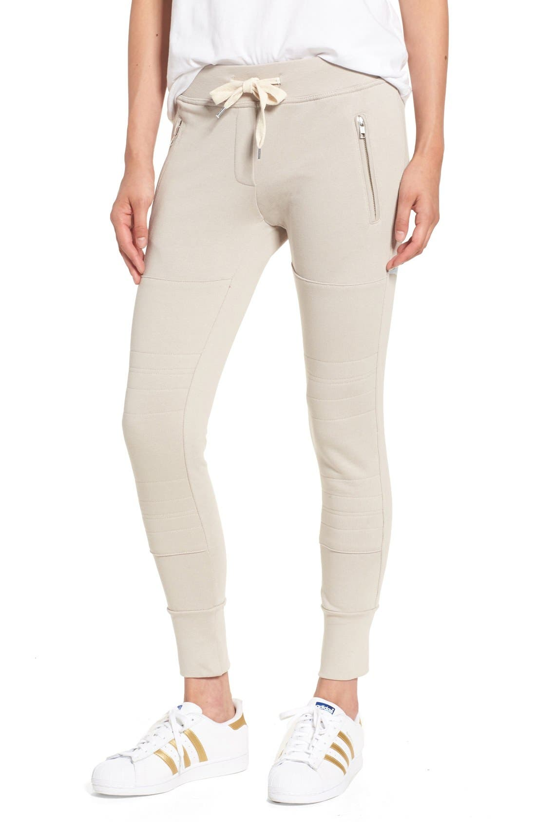 Alternate Image 1 Selected - Sincerely Jules 'Lux' Skinny Cotton Jogger Pants