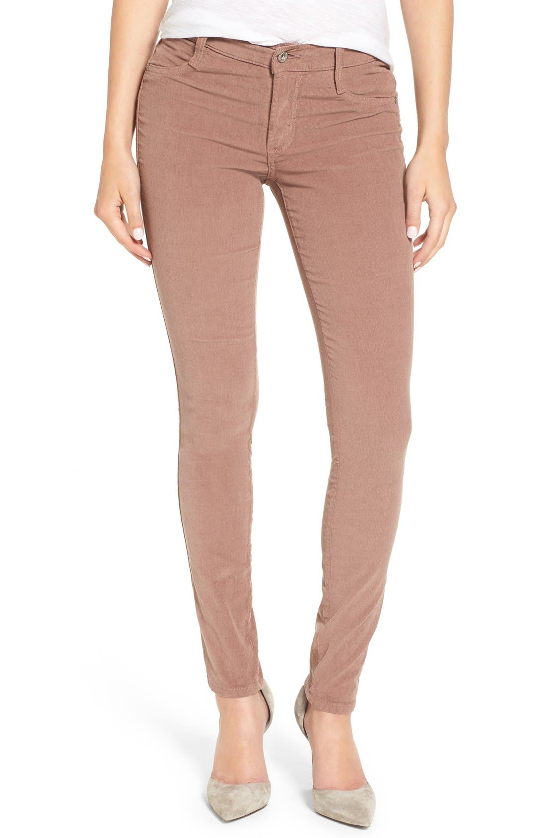Alternate Image 1 Selected - James Jeans 'Twiggy' Corduroy Skinny Pants (French Roast)