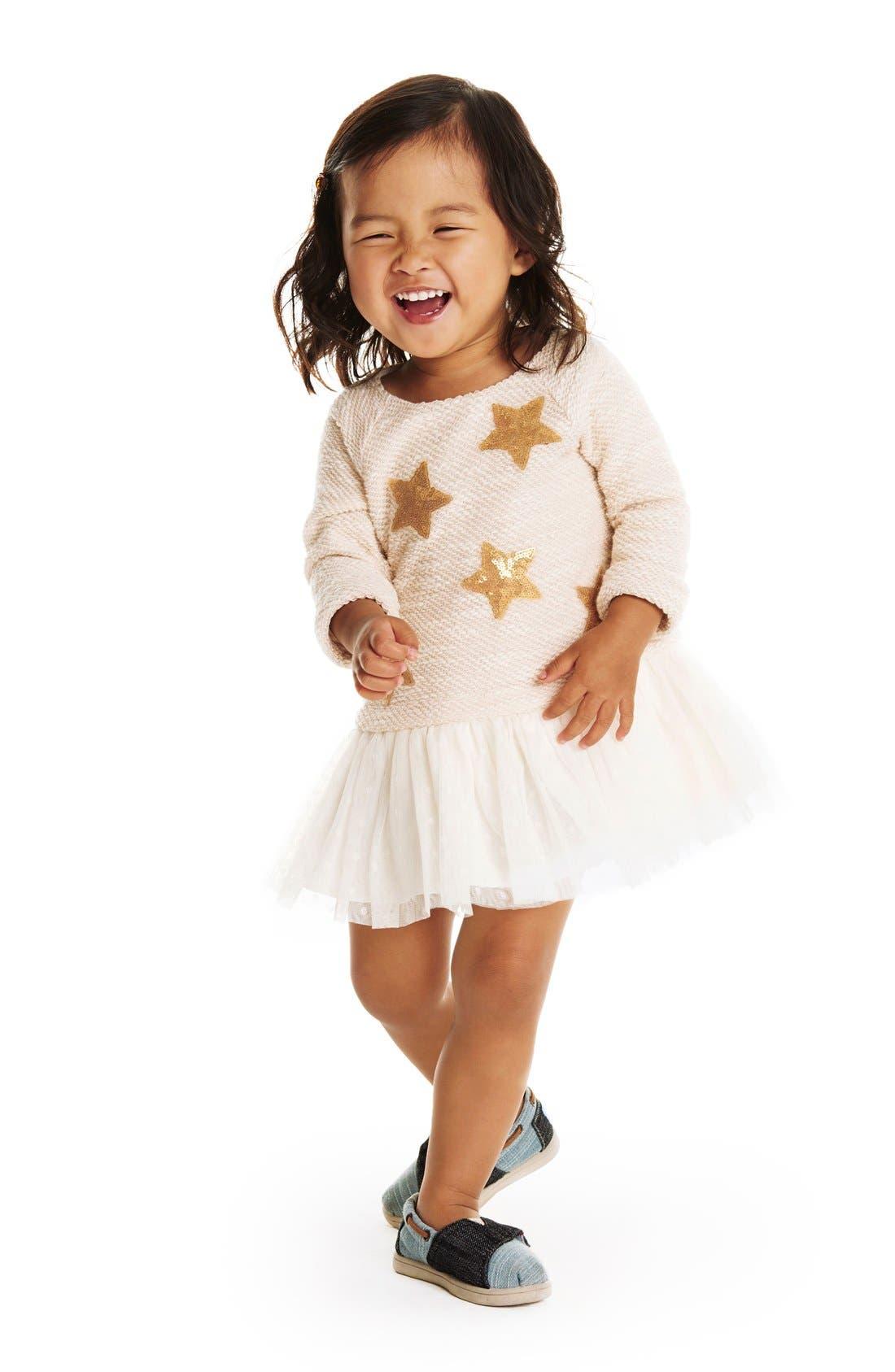 Alternate Image 3  - Pippa & Julie Sequin Star Drop Waist Dress (Baby Girls)