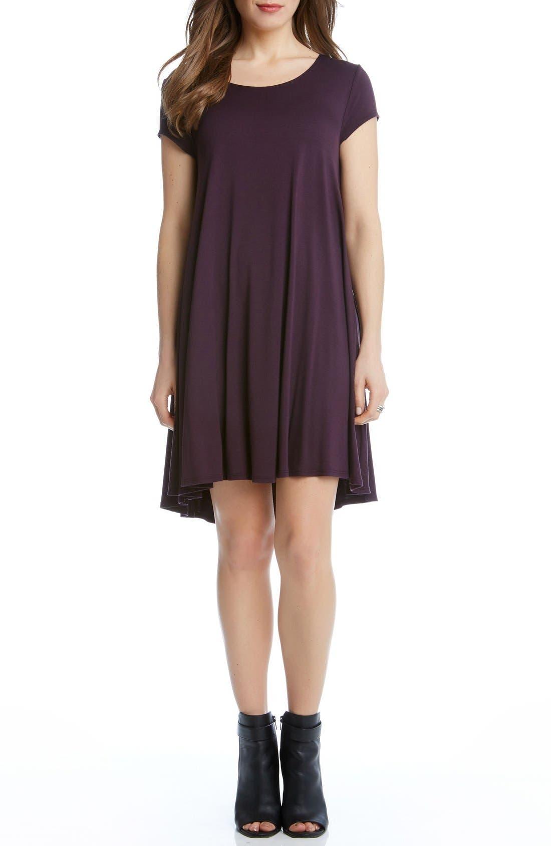 Alternate Image 1 Selected - Karen Kane 'Maggie' Cap Sleeve Trapeze Dress
