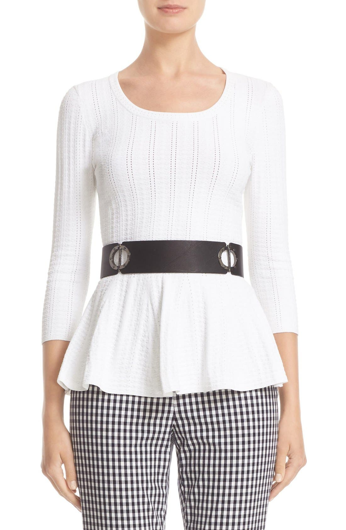 ST. JOHN COLLECTION Icacos Knit Peplum Top