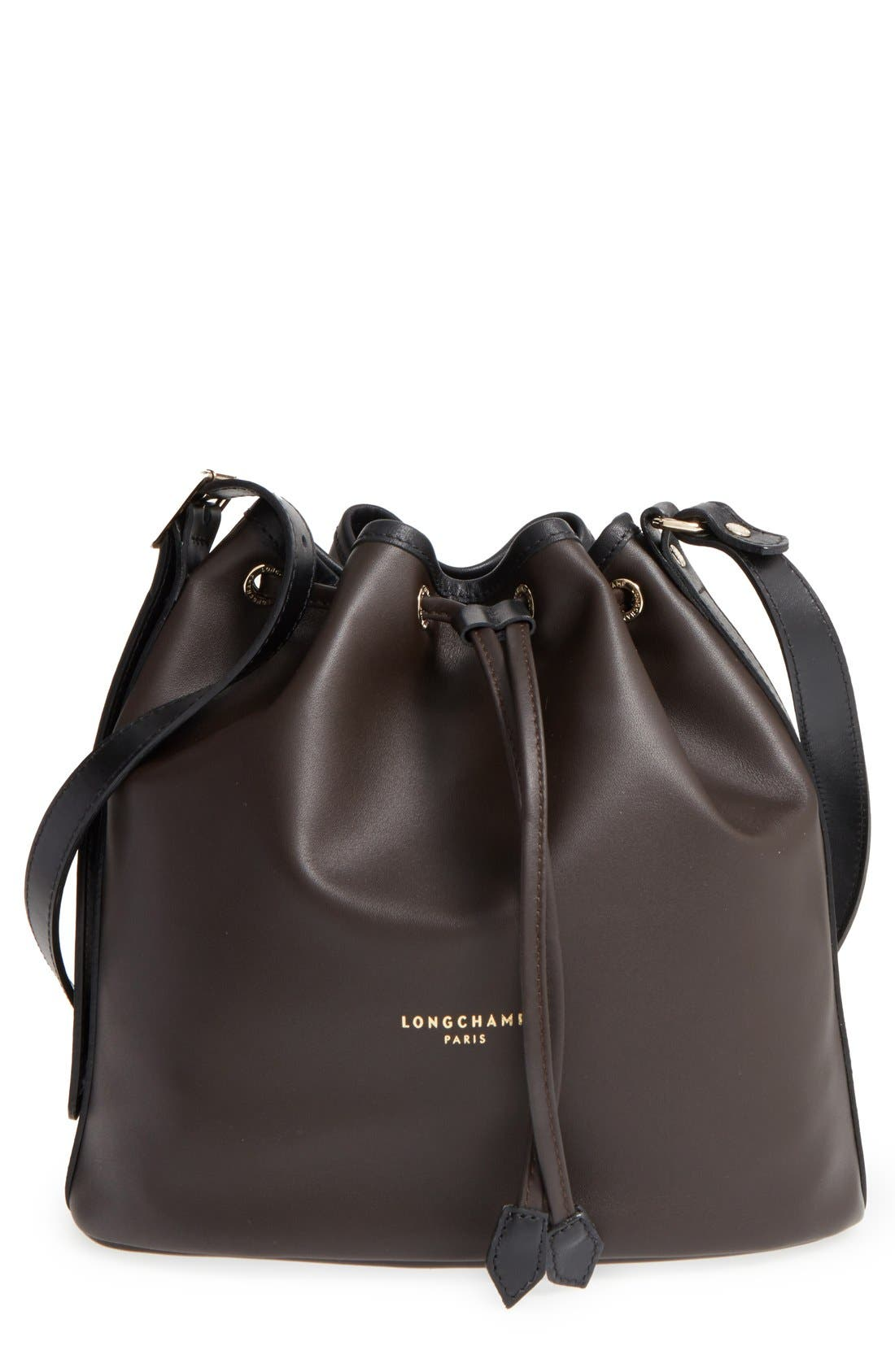 Main Image - Longchamp 'Small 2.0' Leather Bucket Bag
