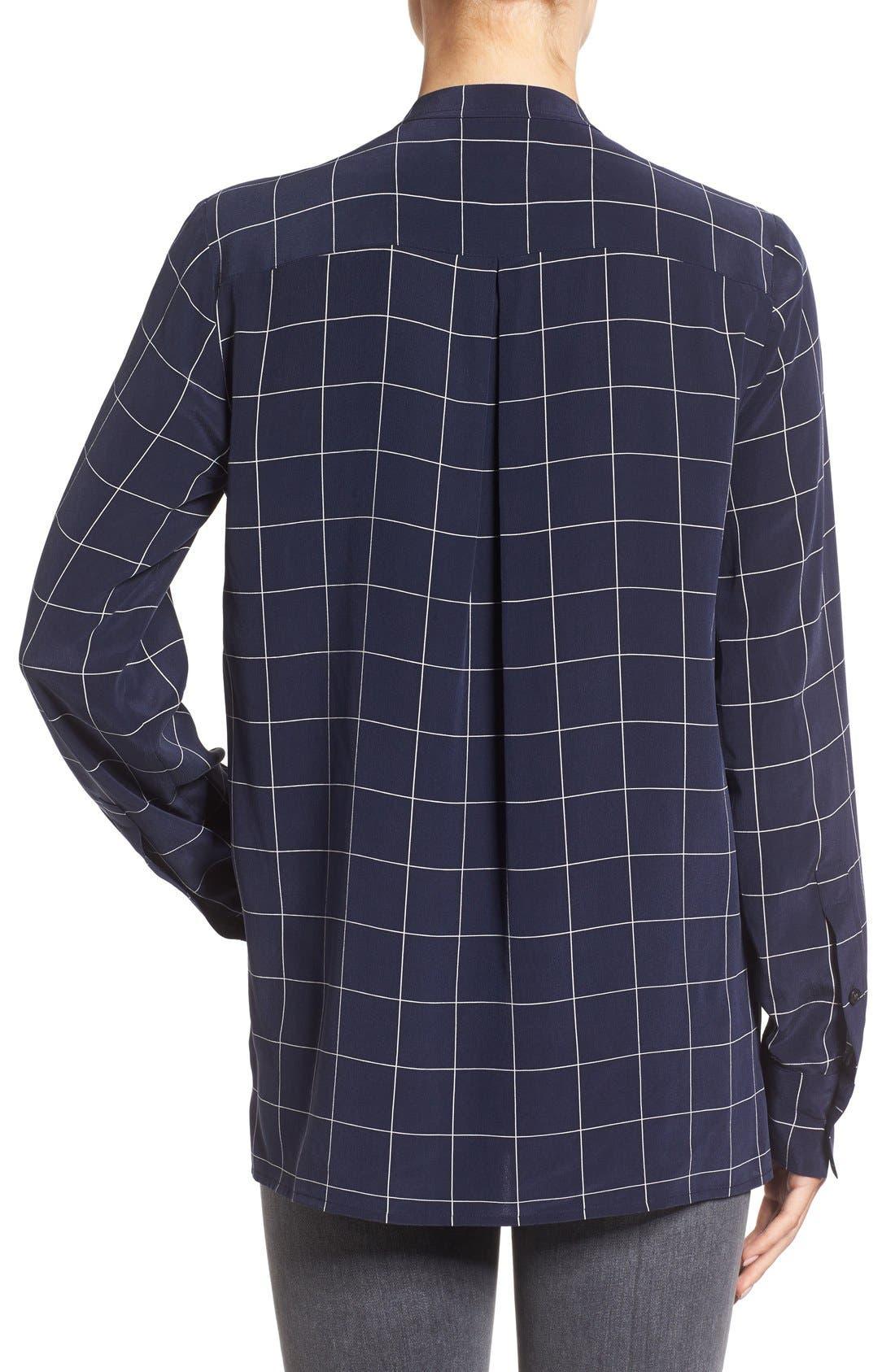 Alternate Image 2  - Madewell 'Monroe' Plaid Lace-Up Silk Blouse