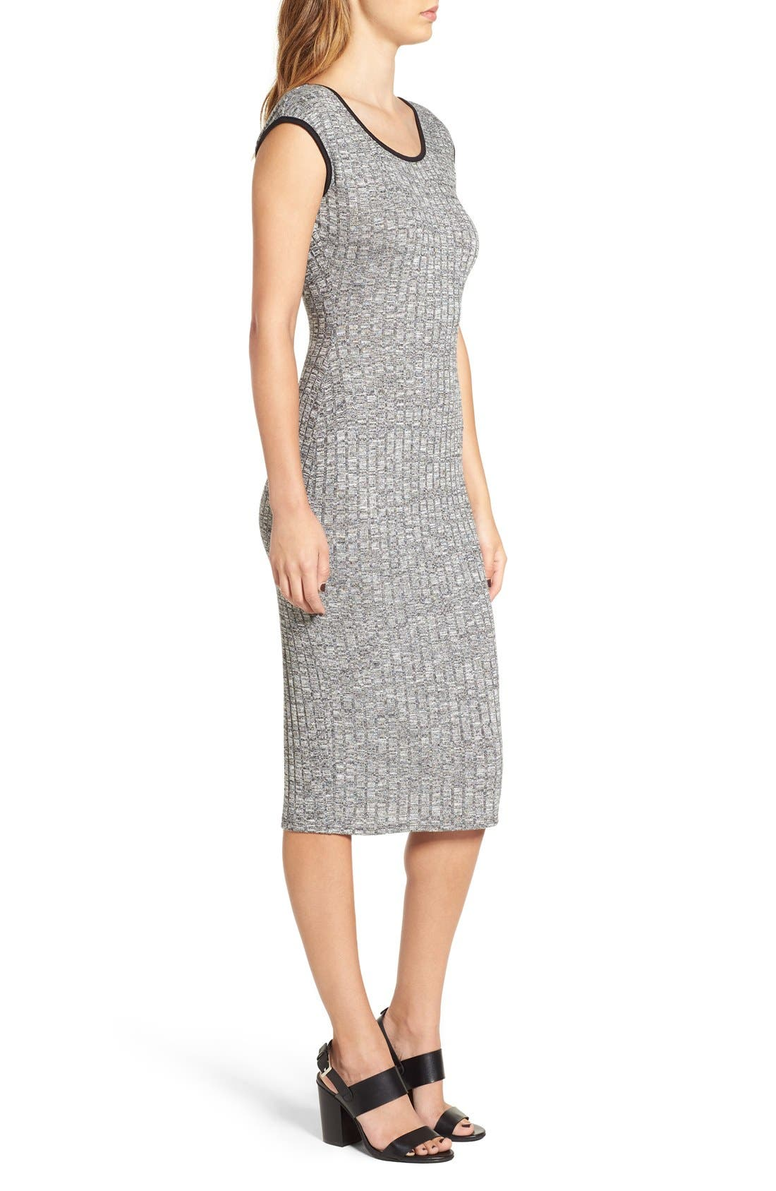 Alternate Image 3  - Love Squared Rib Knit Midi Dress