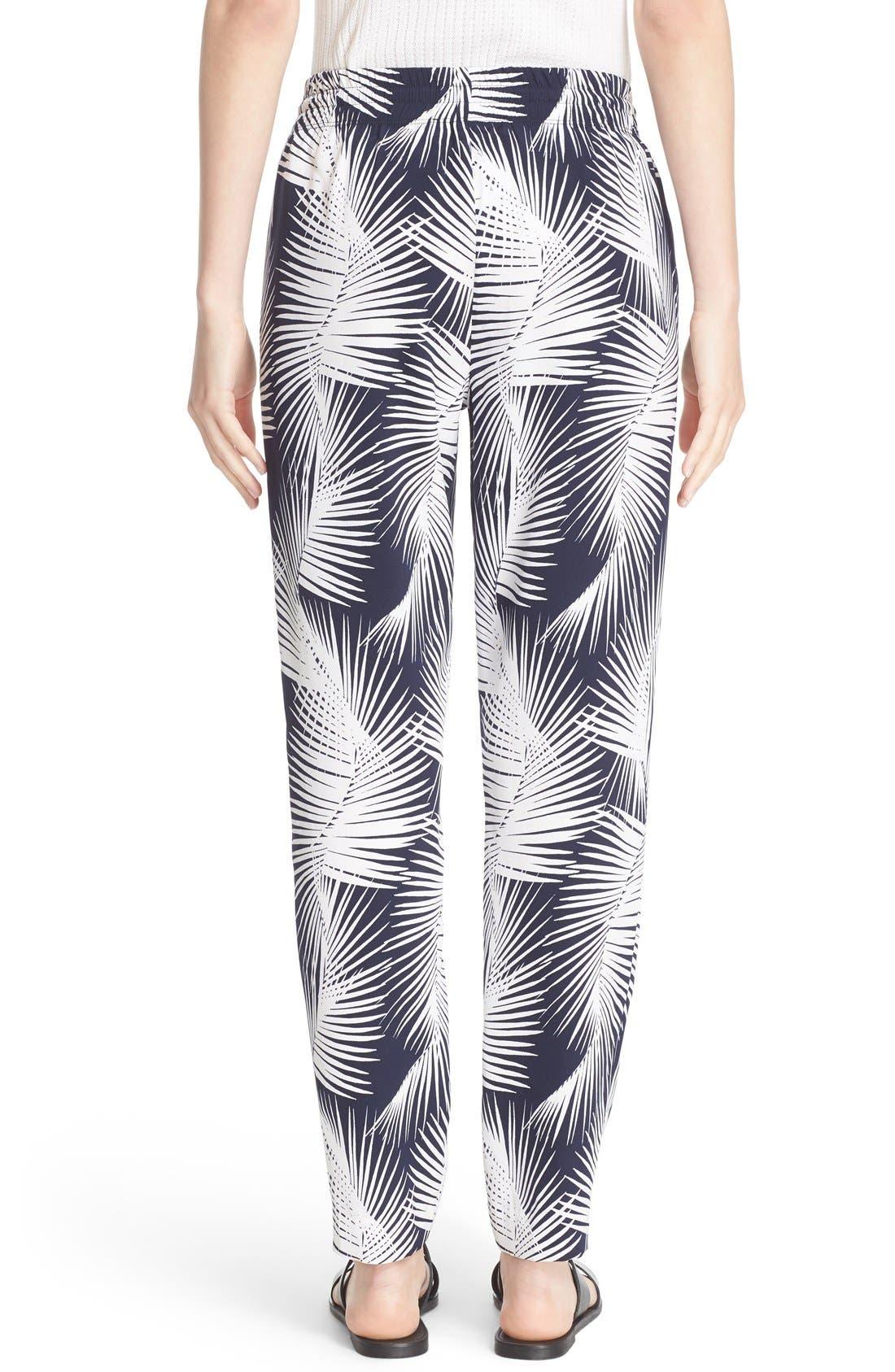 Alternate Image 3  - St. John Sport Collection Palm Print Stretch Silk Pants