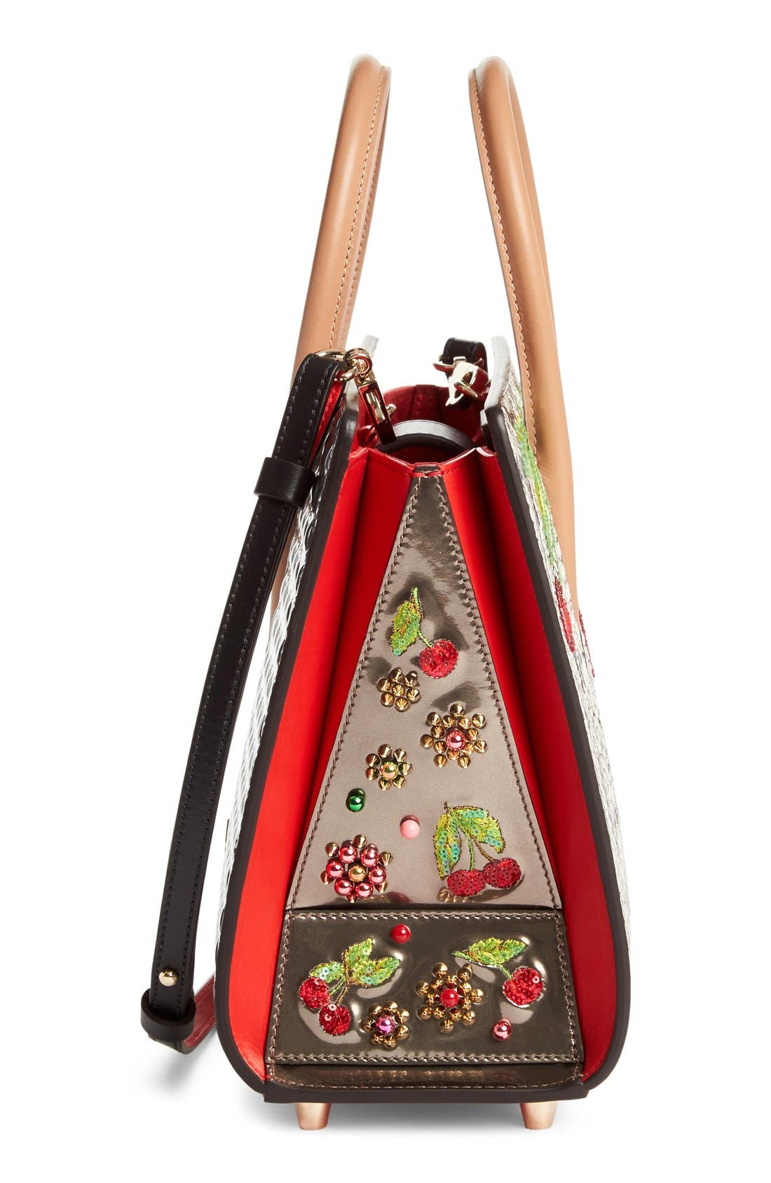 Alternate Image 5  - Christian Louboutin Small Paloma Embellished Genuine Snakeskin Tote
