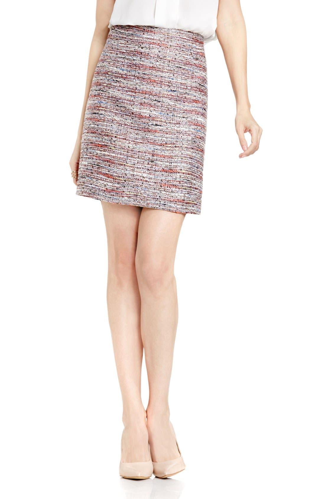 Alternate Image 1 Selected - Vince Camuto Tweed Pencil Skirt (Regular & Petite)