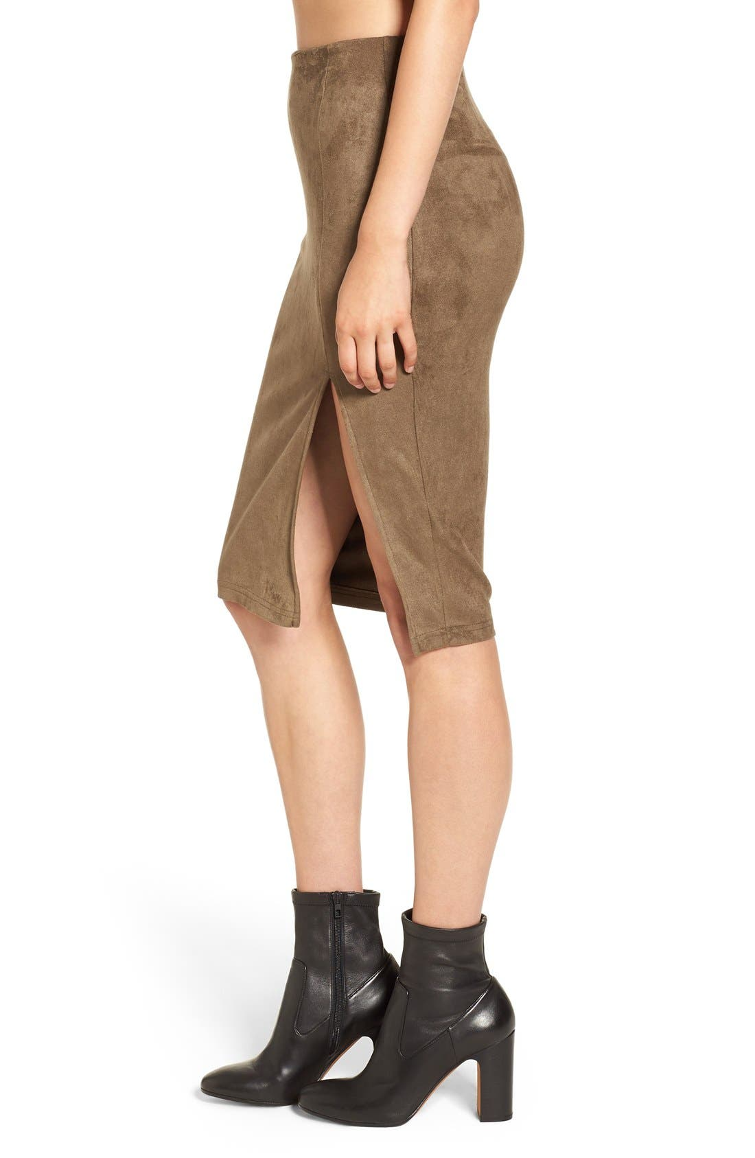 Alternate Image 5  - Missguided Faux Suede Skirt