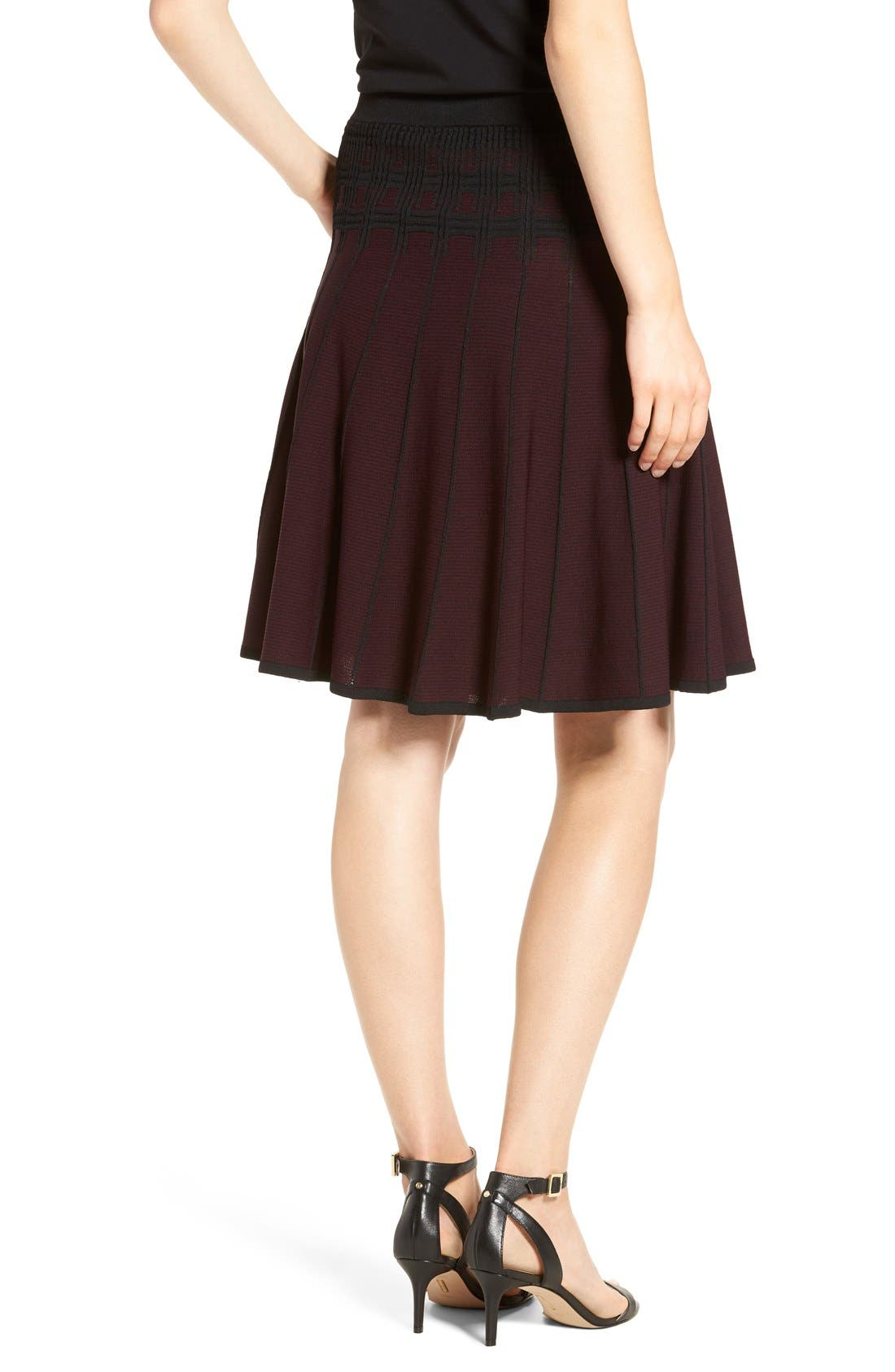 Alternate Image 3  - Ivanka Trump Jacquard Knit Flare Skirt