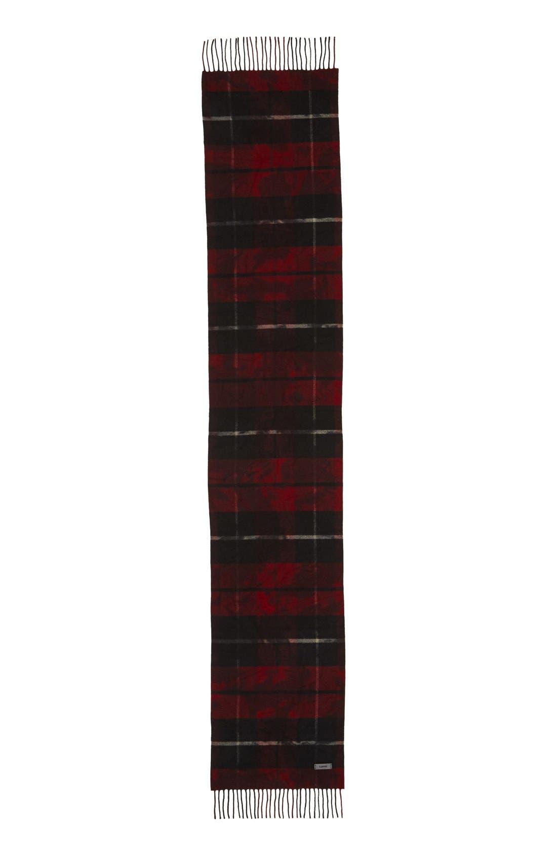 Alternate Image 2  - Lanvin Plaid Wool Scarf
