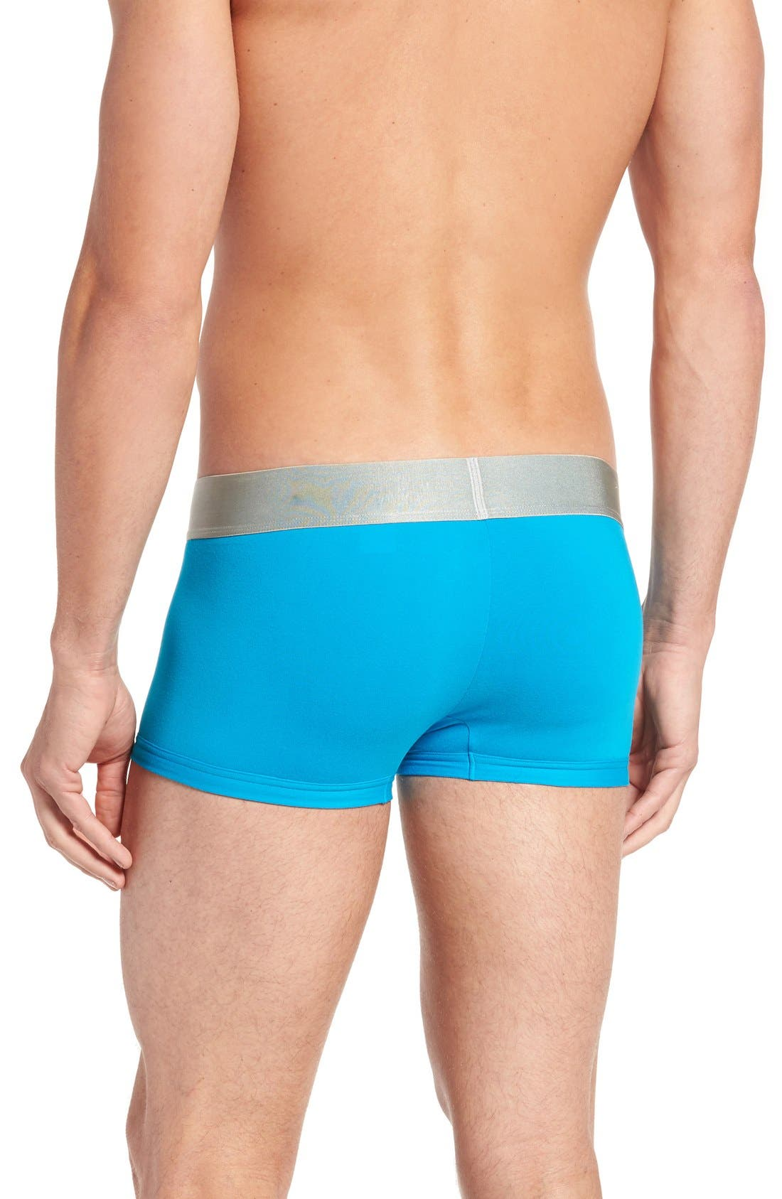 Alternate Image 2  - Calvin Klein Steel U2716 Microfiber Low Rise Trunks