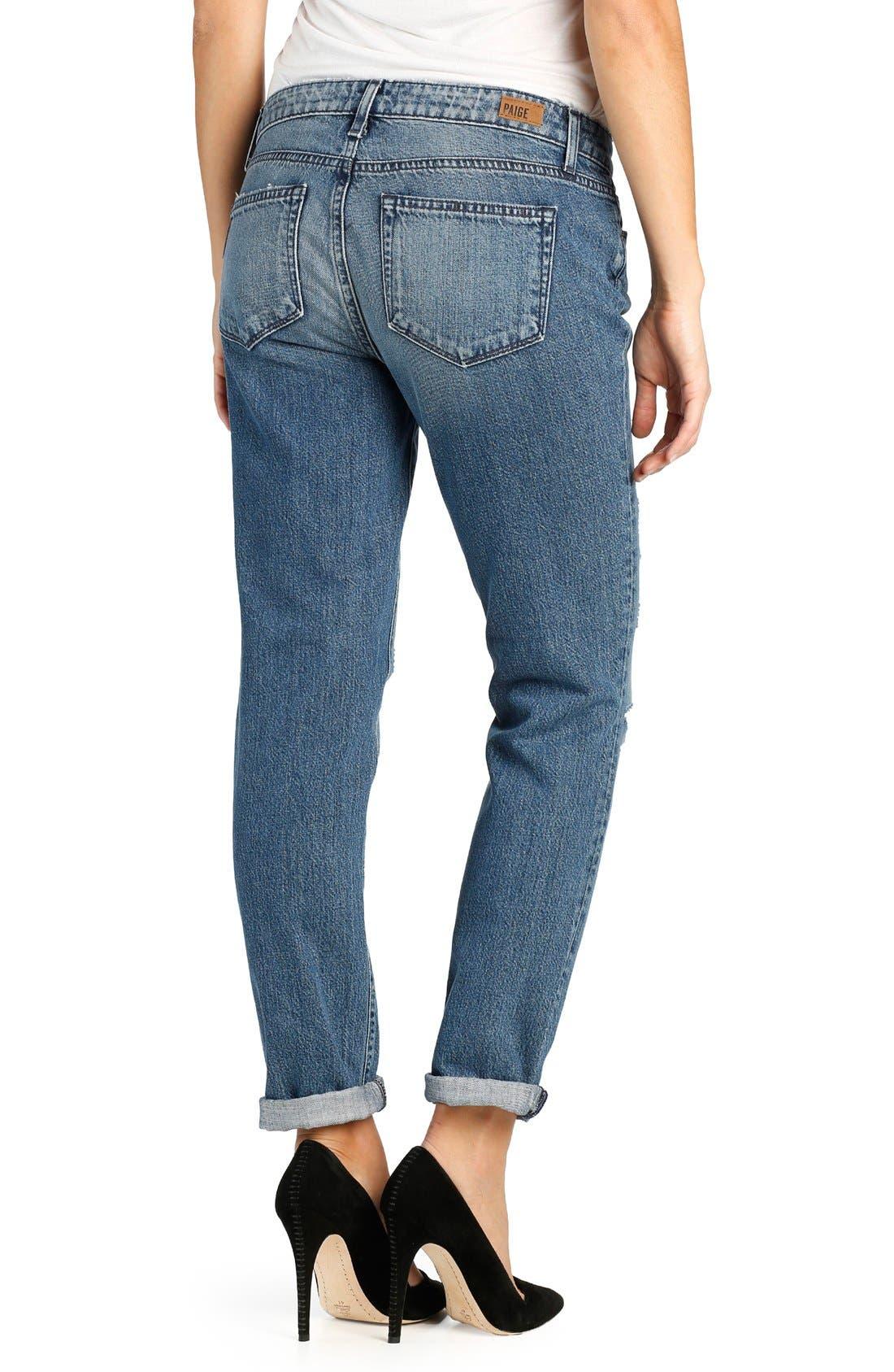 Alternate Image 2  - PAIGE 'Jimmy Jimmy' Destroyed Skinny Jeans (Westley Destructed)