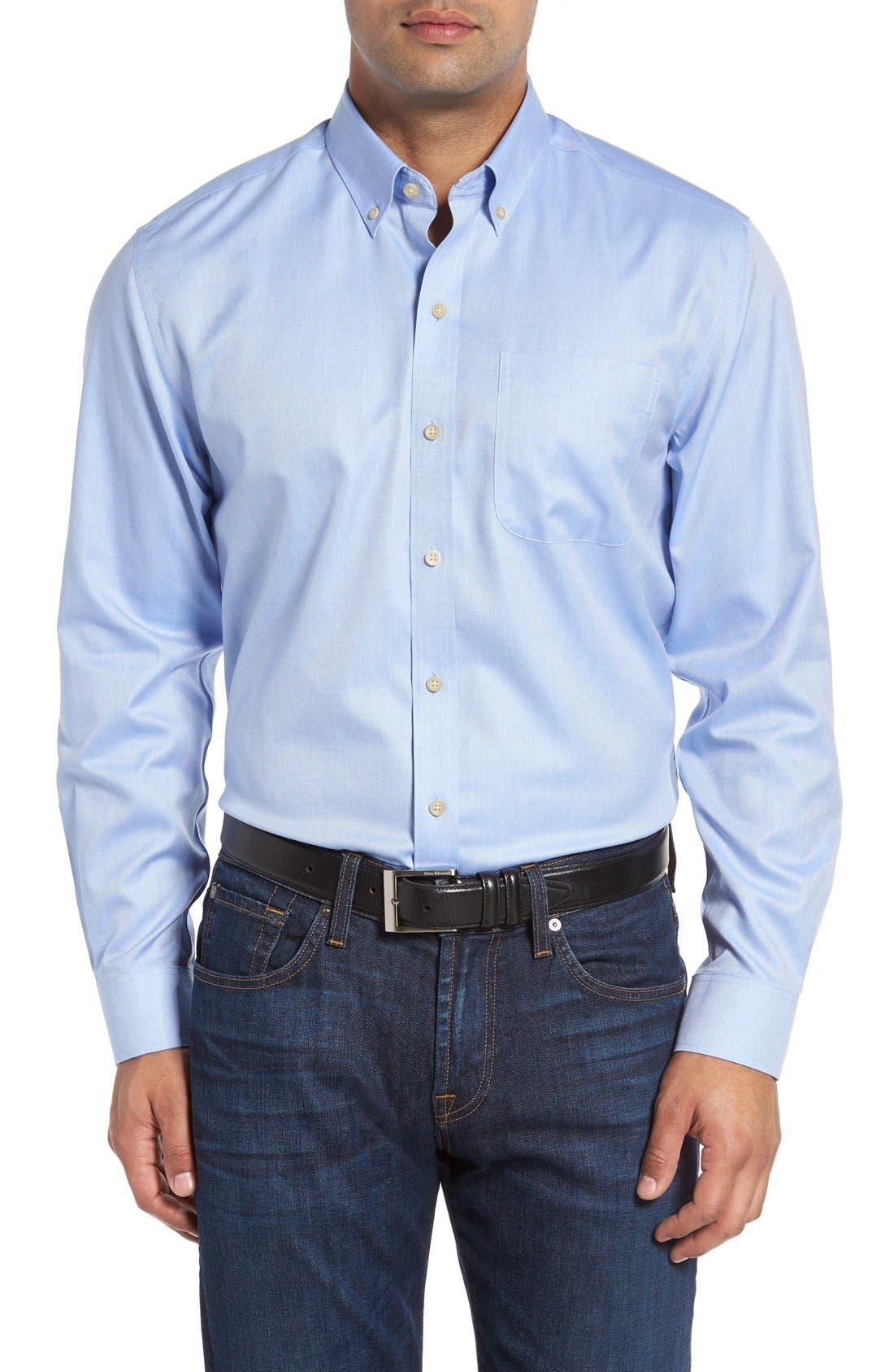 Cutter & Buck 'San Juan' Classic Fit Wrinkle Free Solid Sport Shirt (Big & Tall)