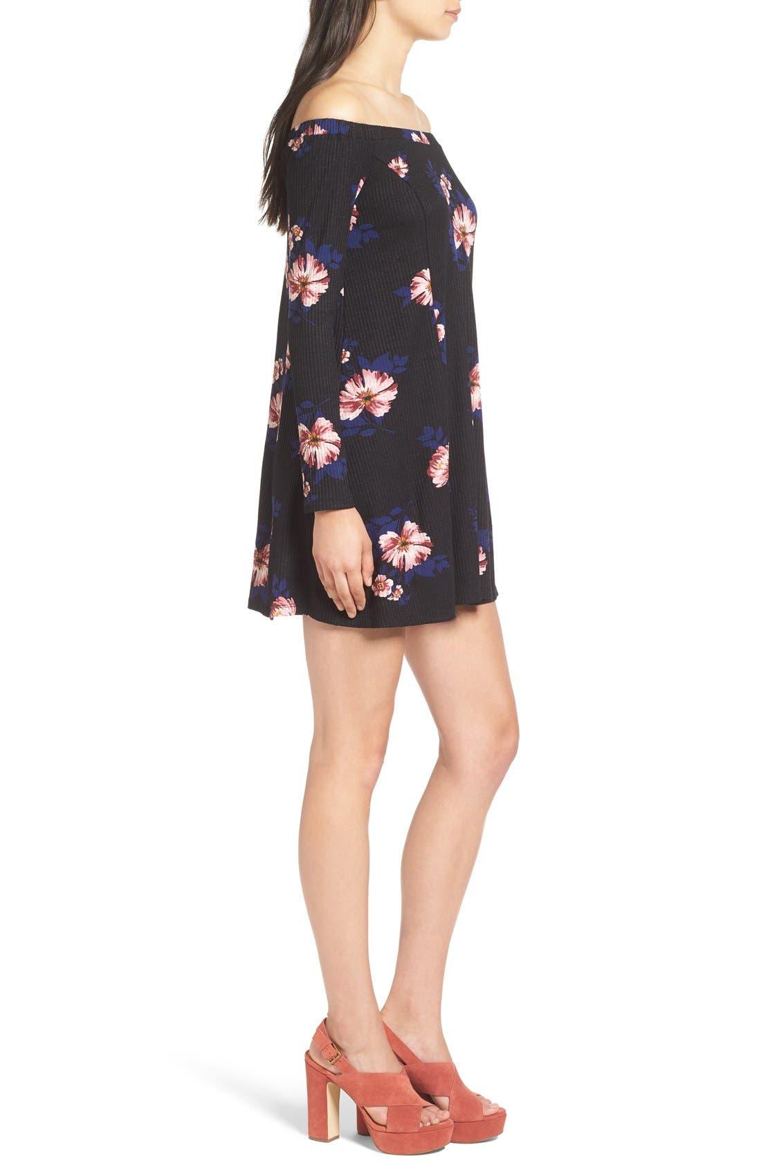 Alternate Image 3  - Lush Off the Shoulder Floral Print Dress
