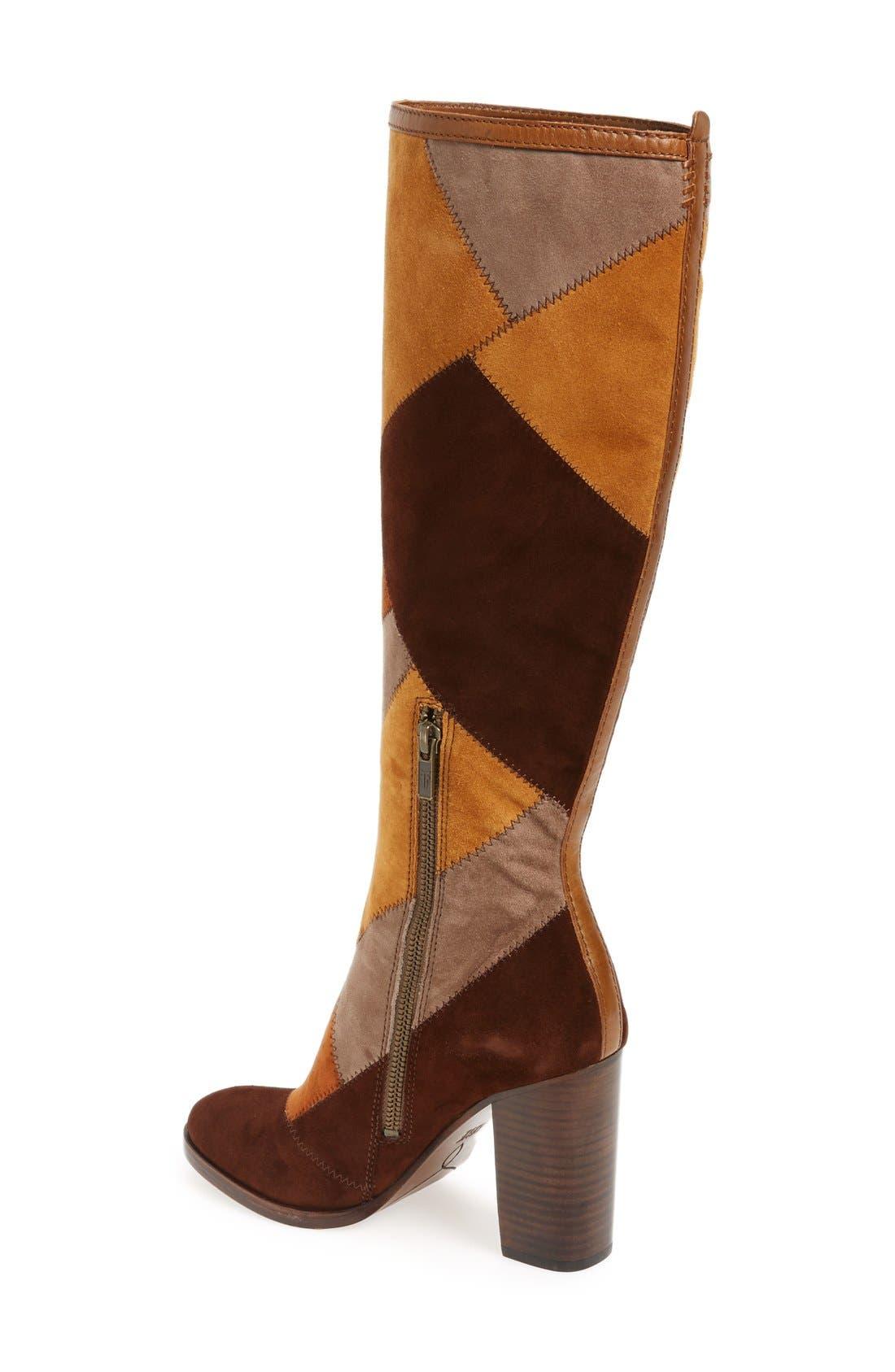 Alternate Image 2  - Frye 'Claude' Knee High Patchwork Boot (Women)