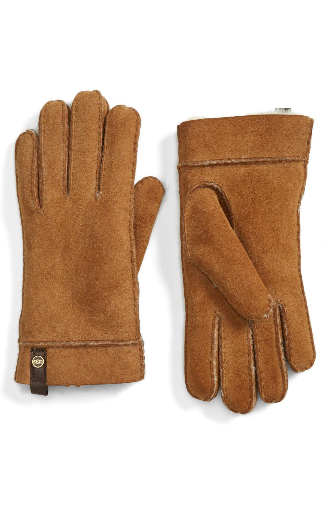 Alternate Image 1 Selected - UGG® Australia 'Tenney' Genuine Shearling Gloves