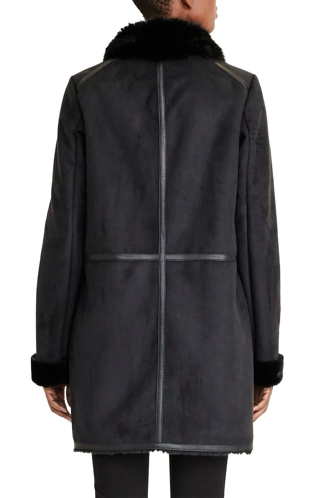 Alternate Image 2  - Lauren Ralph Lauren Faux Shearling Coat