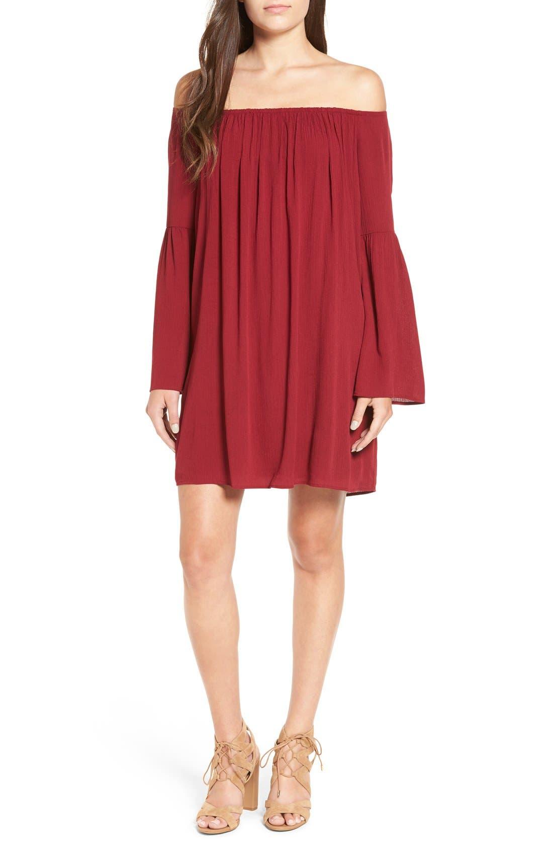 Alternate Image 1 Selected - One Clothing Off the Shoulder Shift Dress