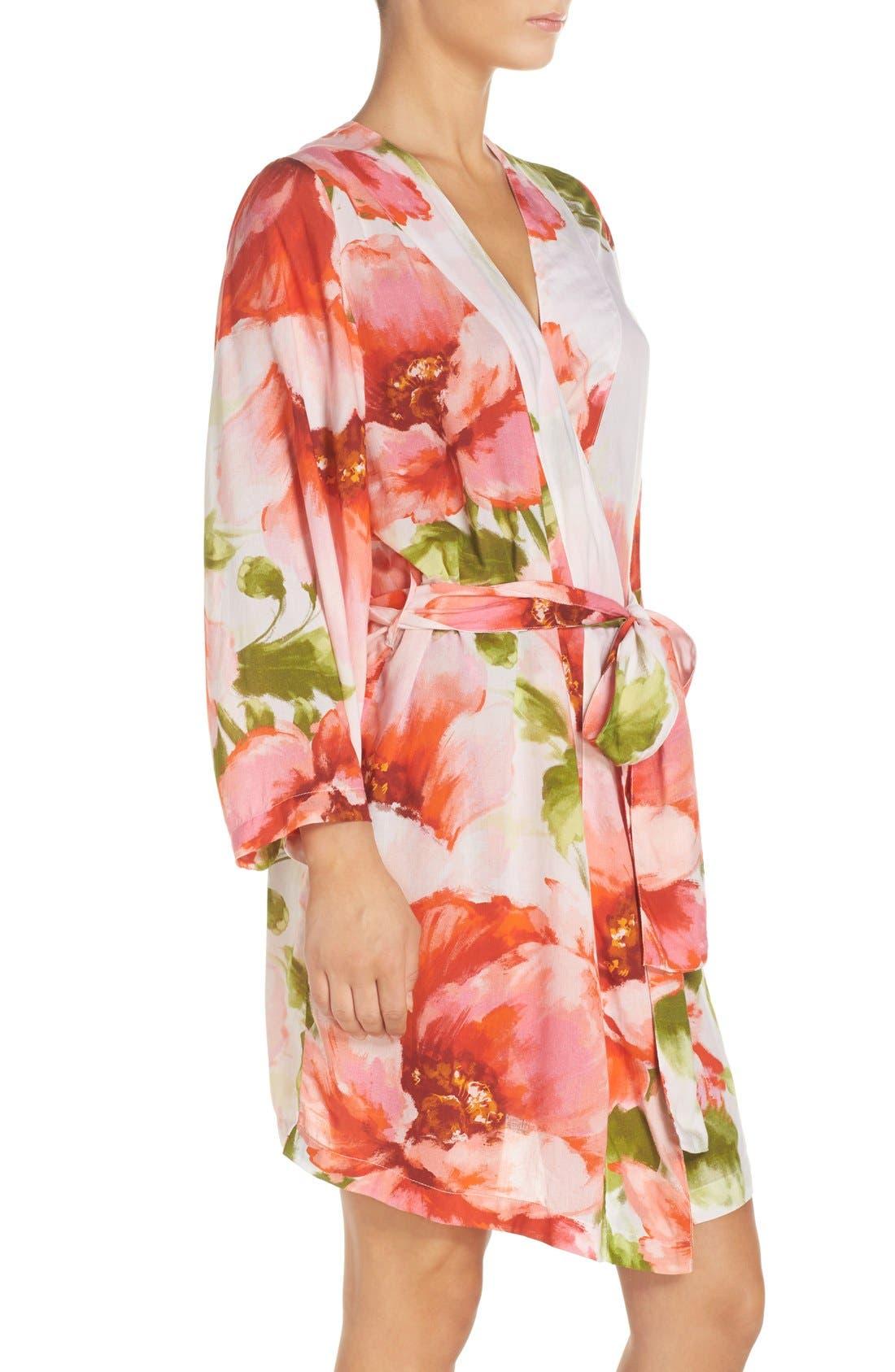Alternate Image 3  - Plum Pretty Sugar Floral Print Kimono Robe