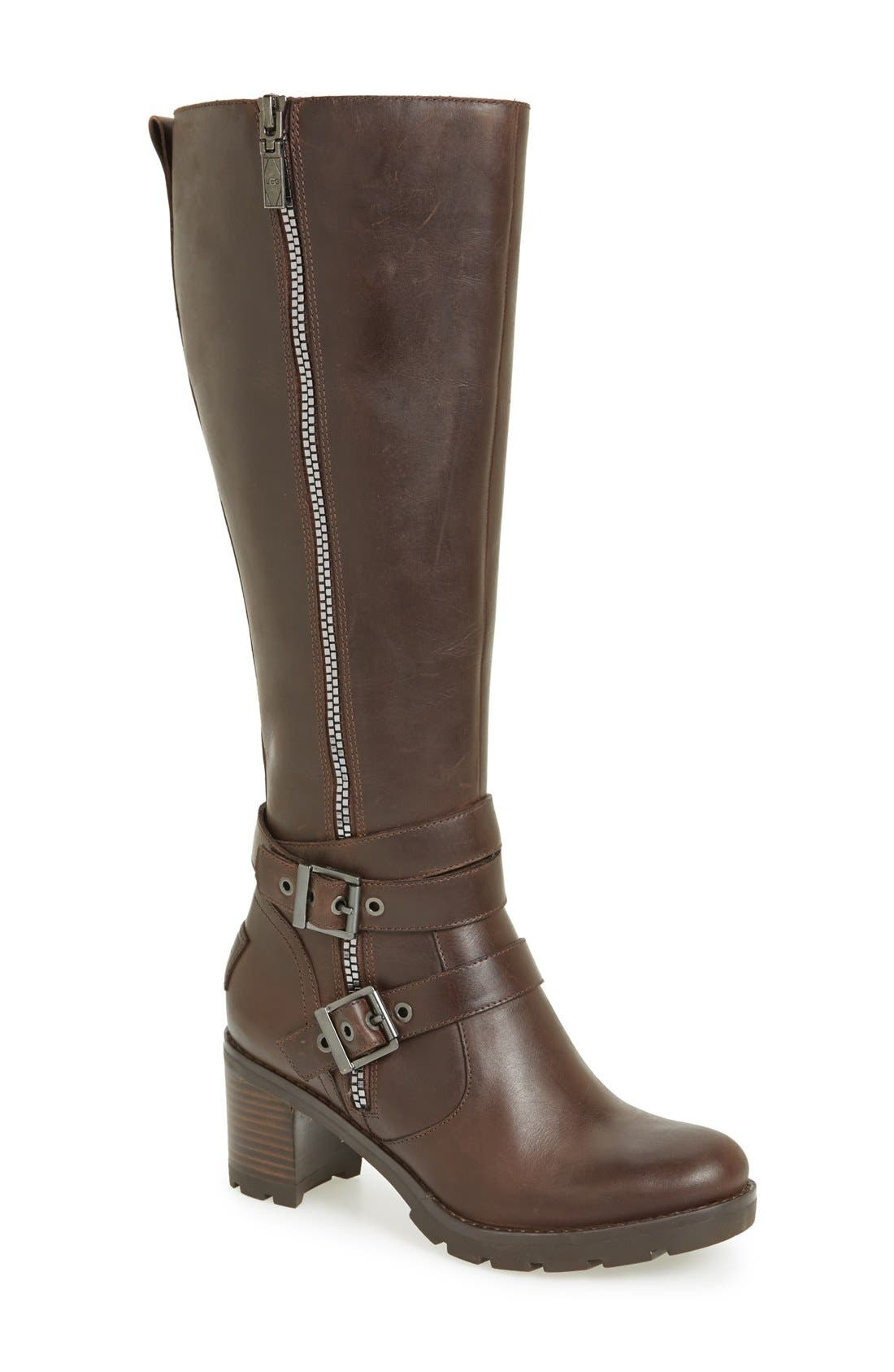Alternate Image 1 Selected - UGG® 'Lana' Water Resistant Genuine Shearling Lined Leather Boot (Women)
