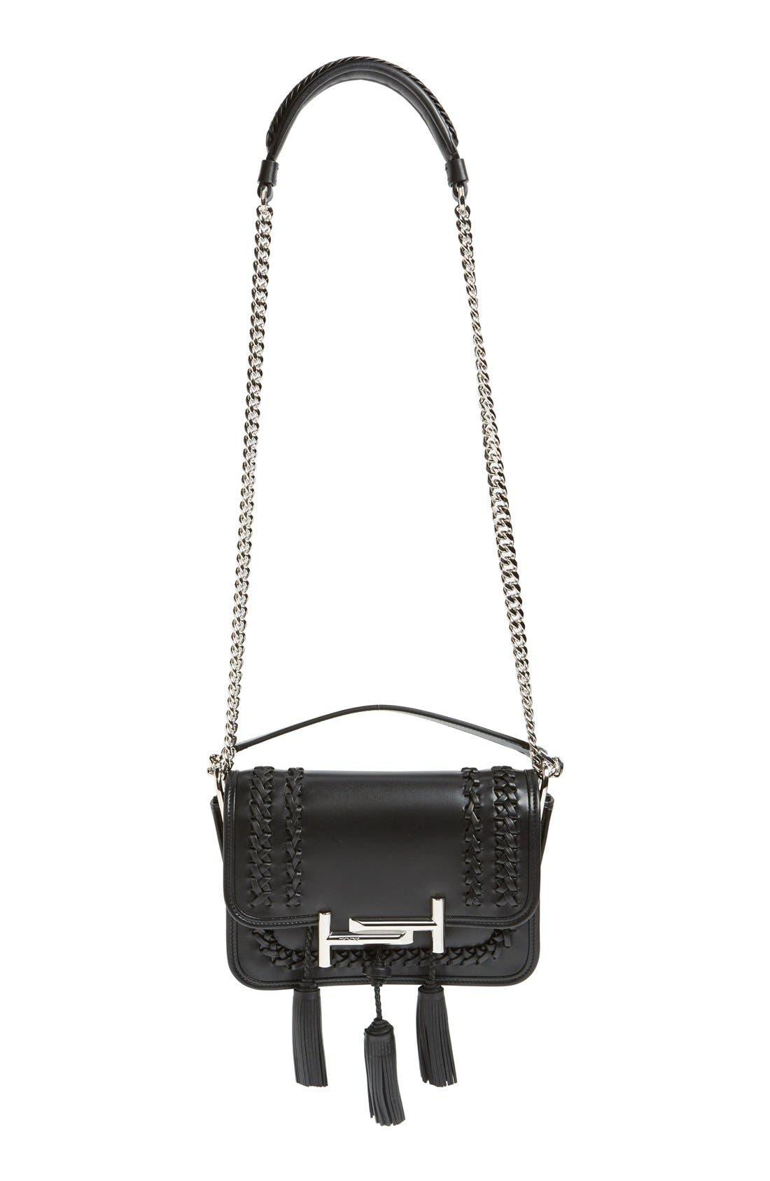 Main Image - Tod's 'Mini Double T' Leather Shoulder Bag
