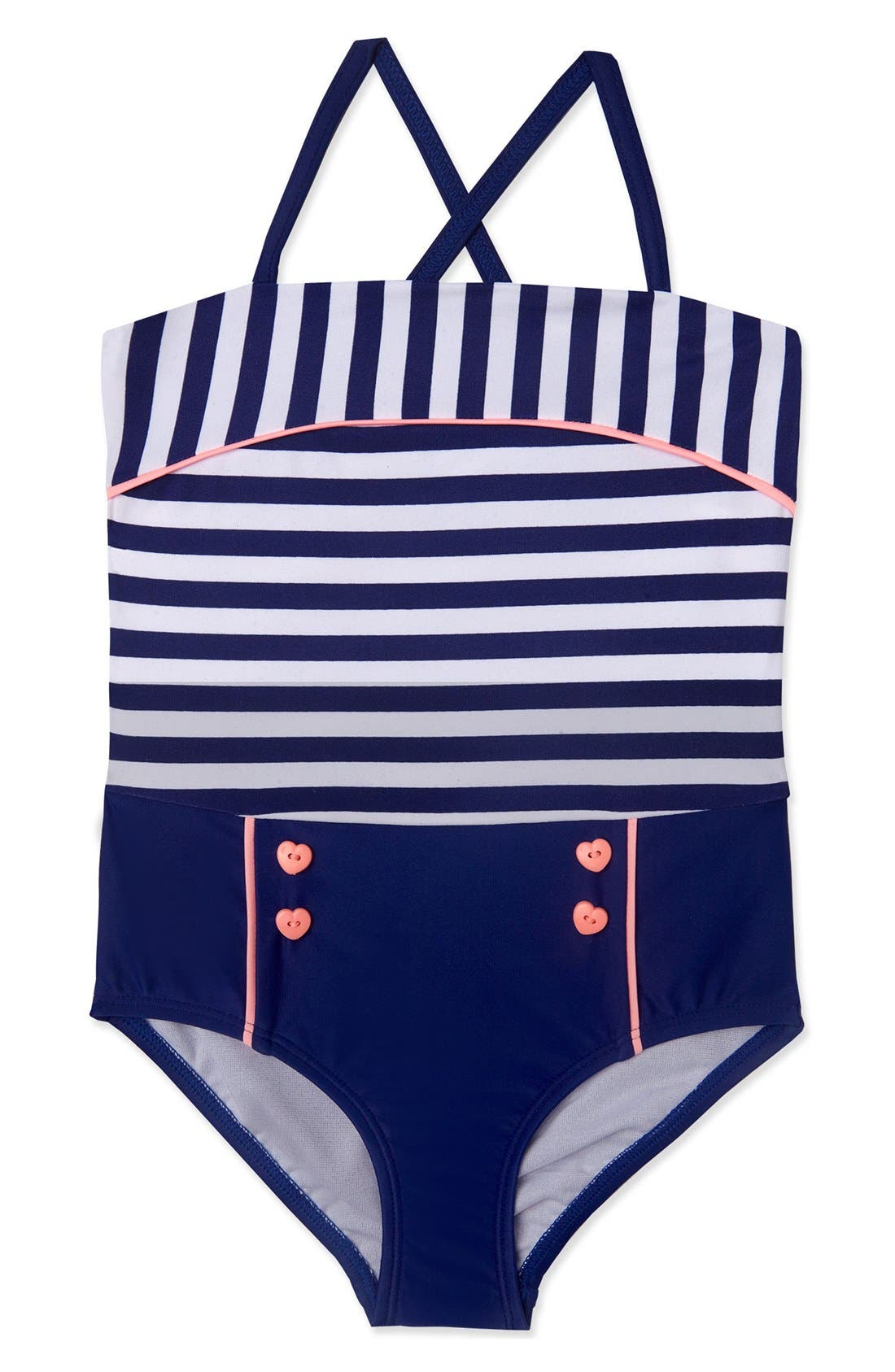 Hula Star 'Ships Ahoy' One-Piece Swimsuit (Toddler Girls & Little Girls)