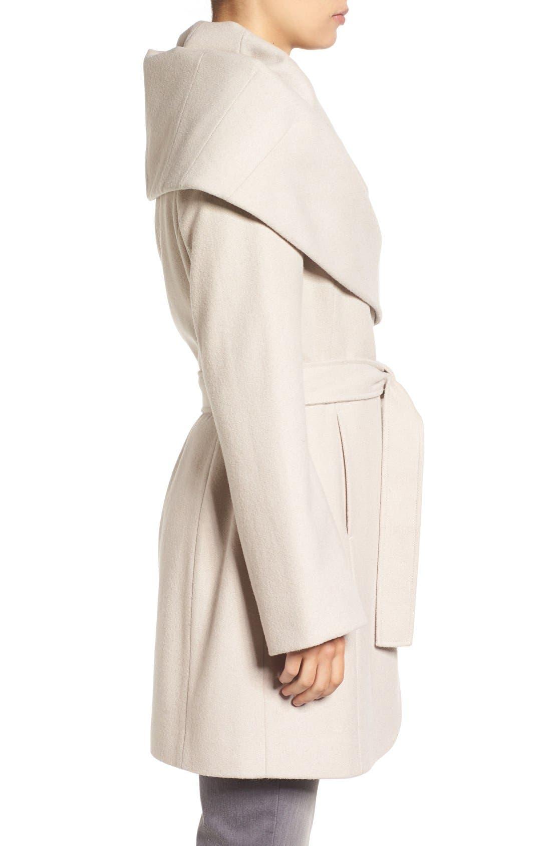 Alternate Image 3  - T Tahari Wool Blend Belted Wrap Coat