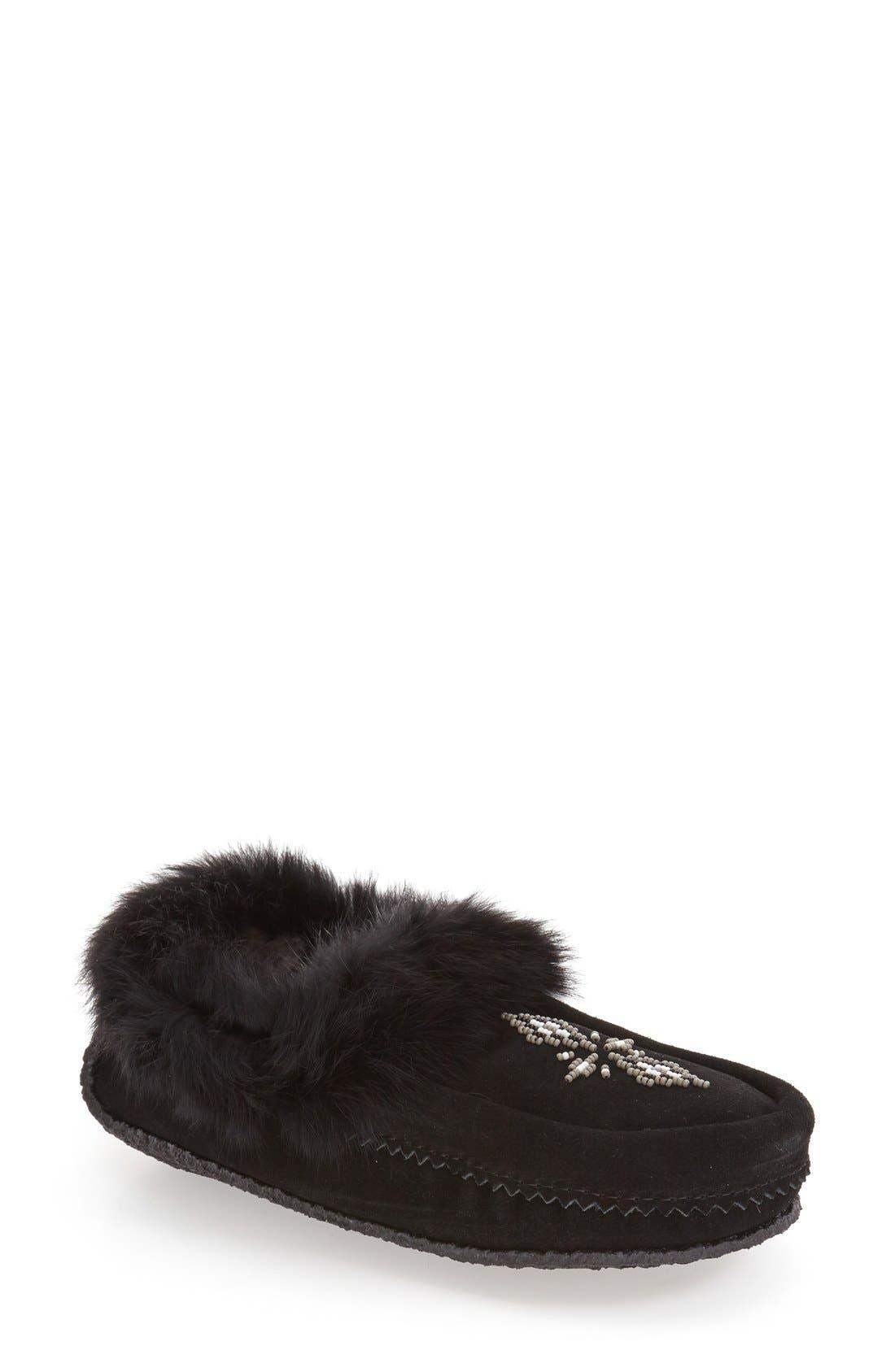 Manitobah Mukluks Genuine Shearling and Rabbit Fur Mukluk Slipper (Women)