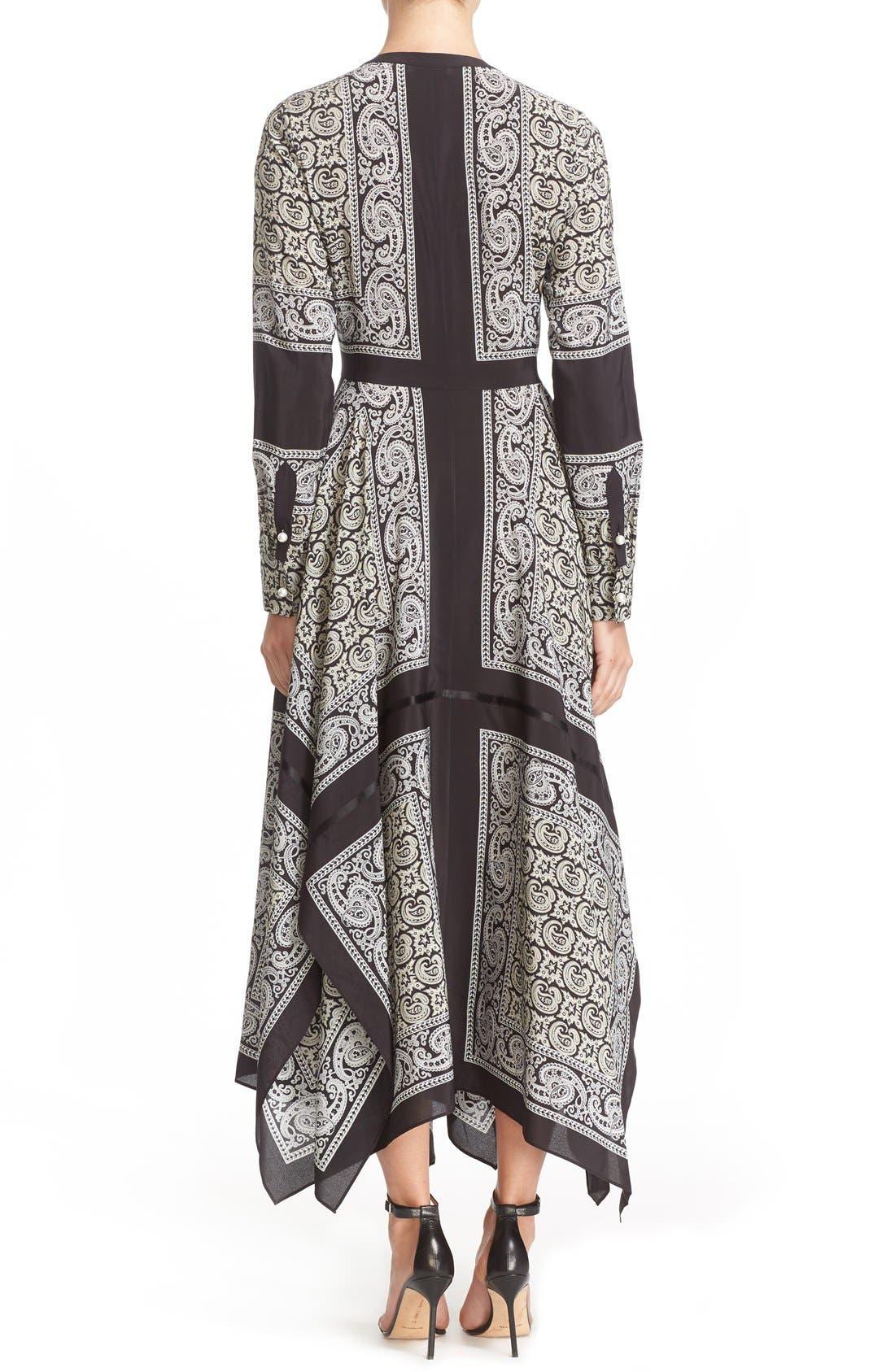 Alternate Image 2  - Altuzarra Paisley Print Handkerchief Hem Silk Dress